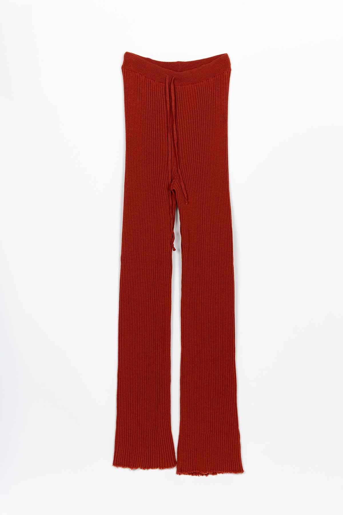 ORANGE KNIT TROUSERS