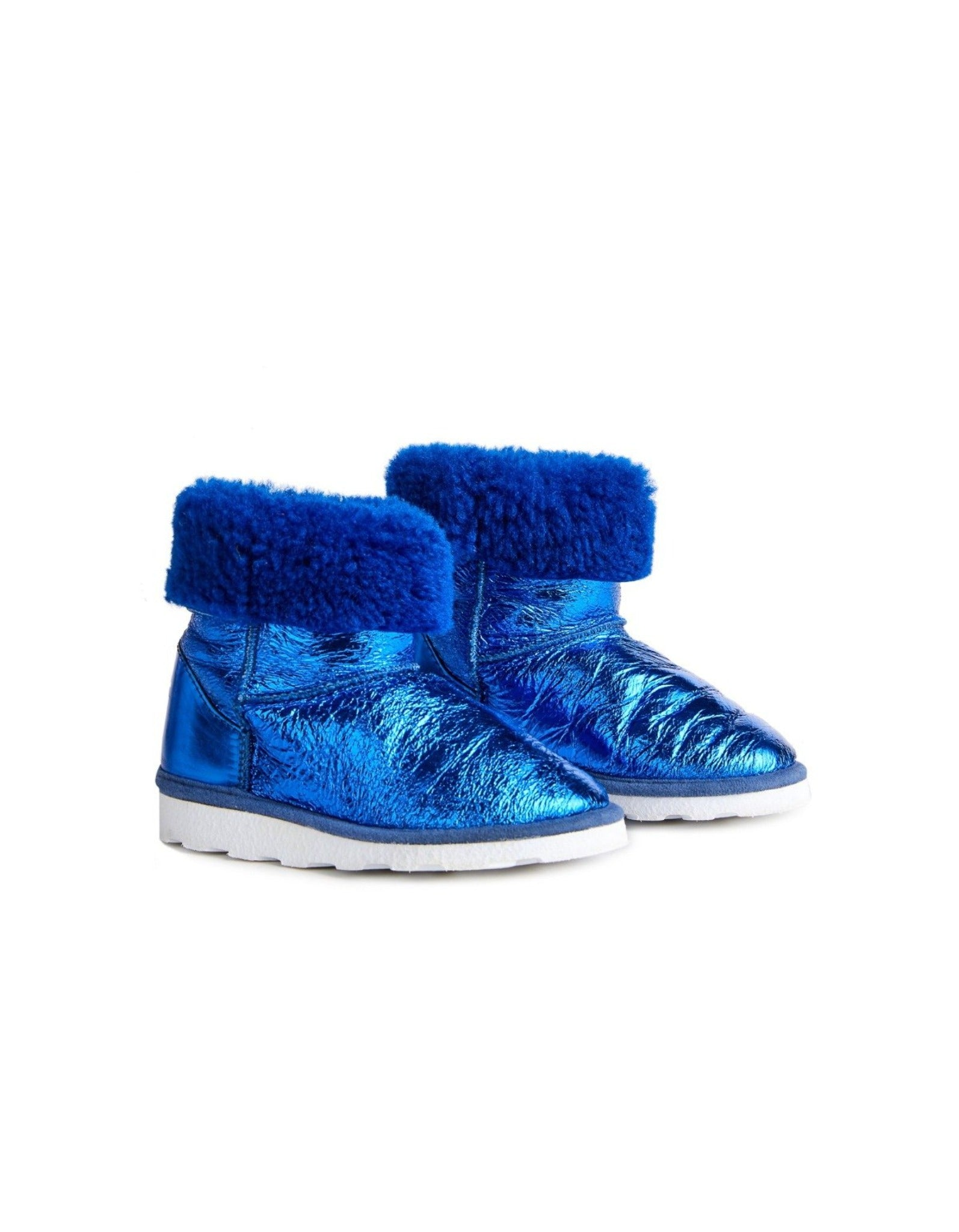 M'A KIDS LEATHER BOOTS IN BLUE