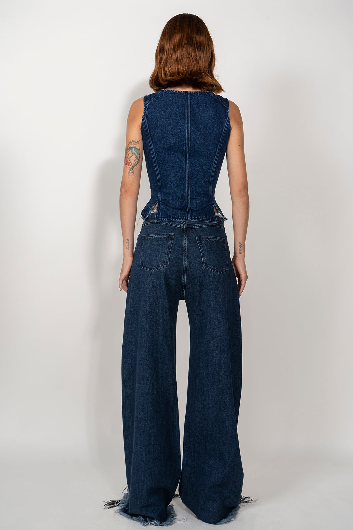 DENIM CORSET IN INDIGO BLUE