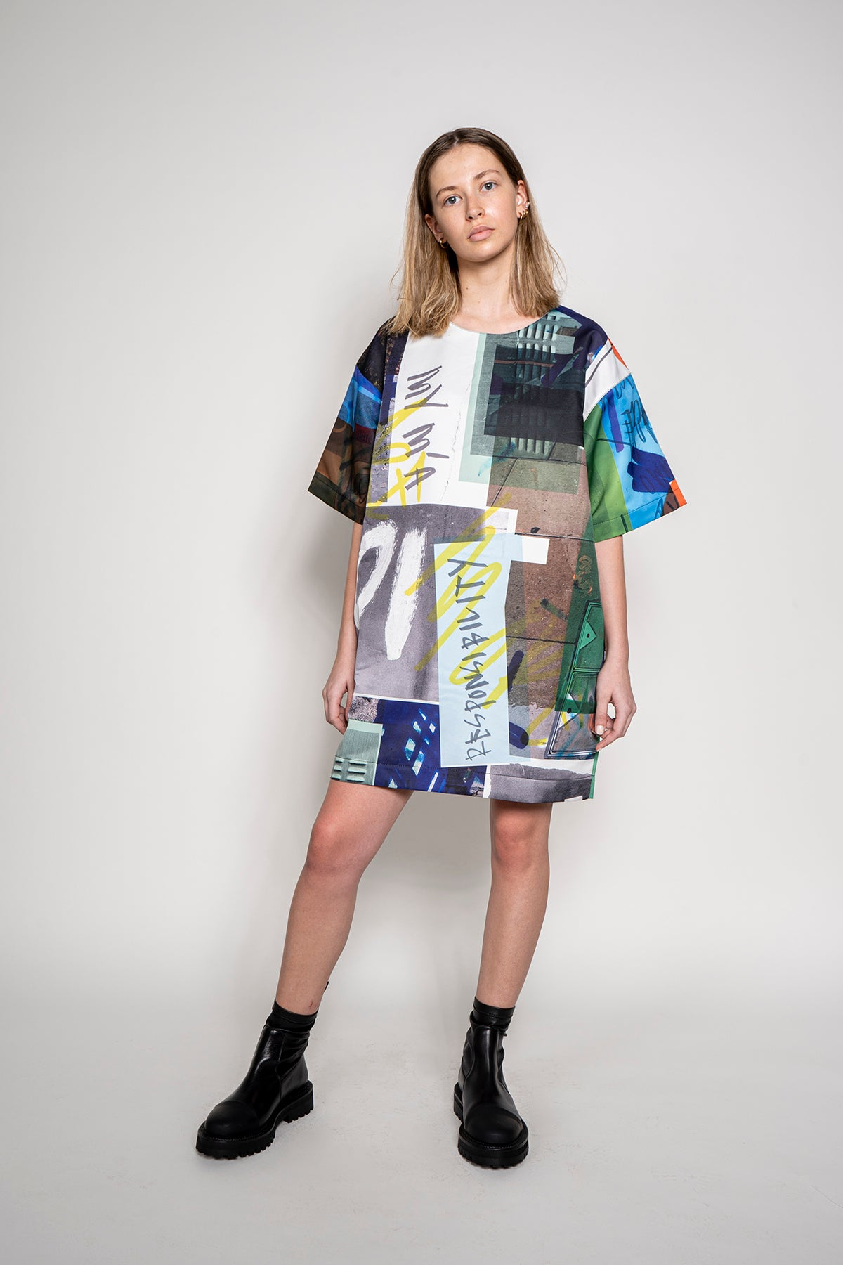 MARQUES ALMEIDA OVERSIZED T-SHIRT DRESS