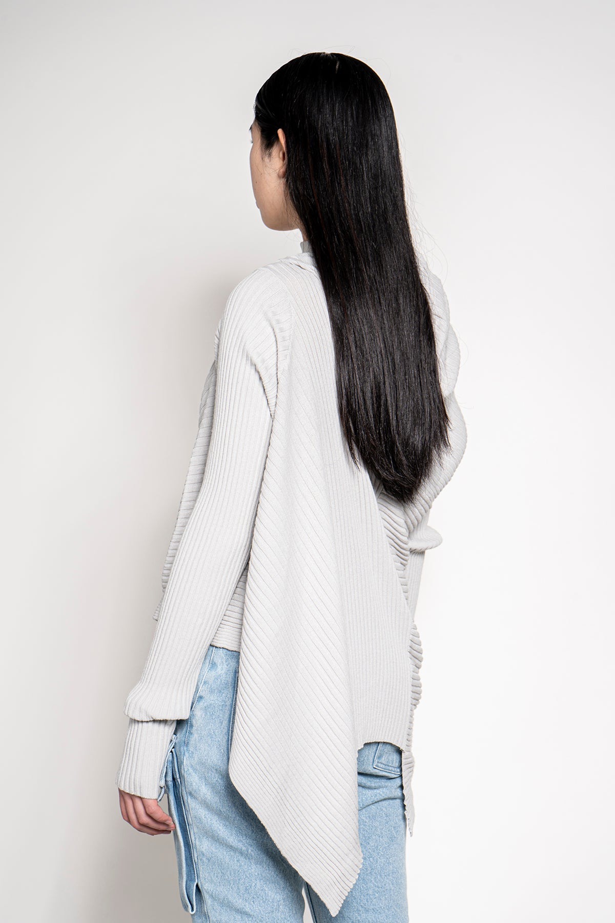 DRAPED JUMPER IN GREY