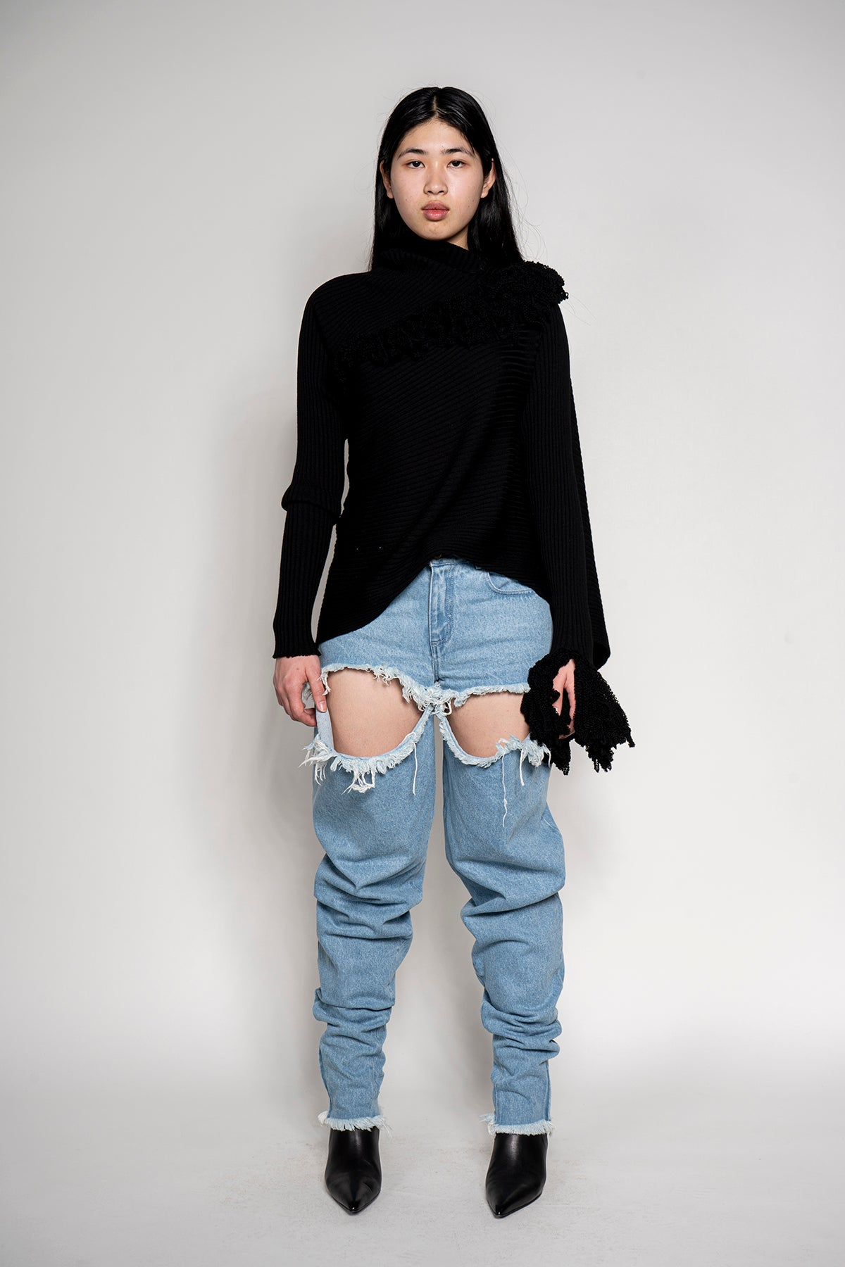 MARQUES ALMEIDA RIPPED JEANS