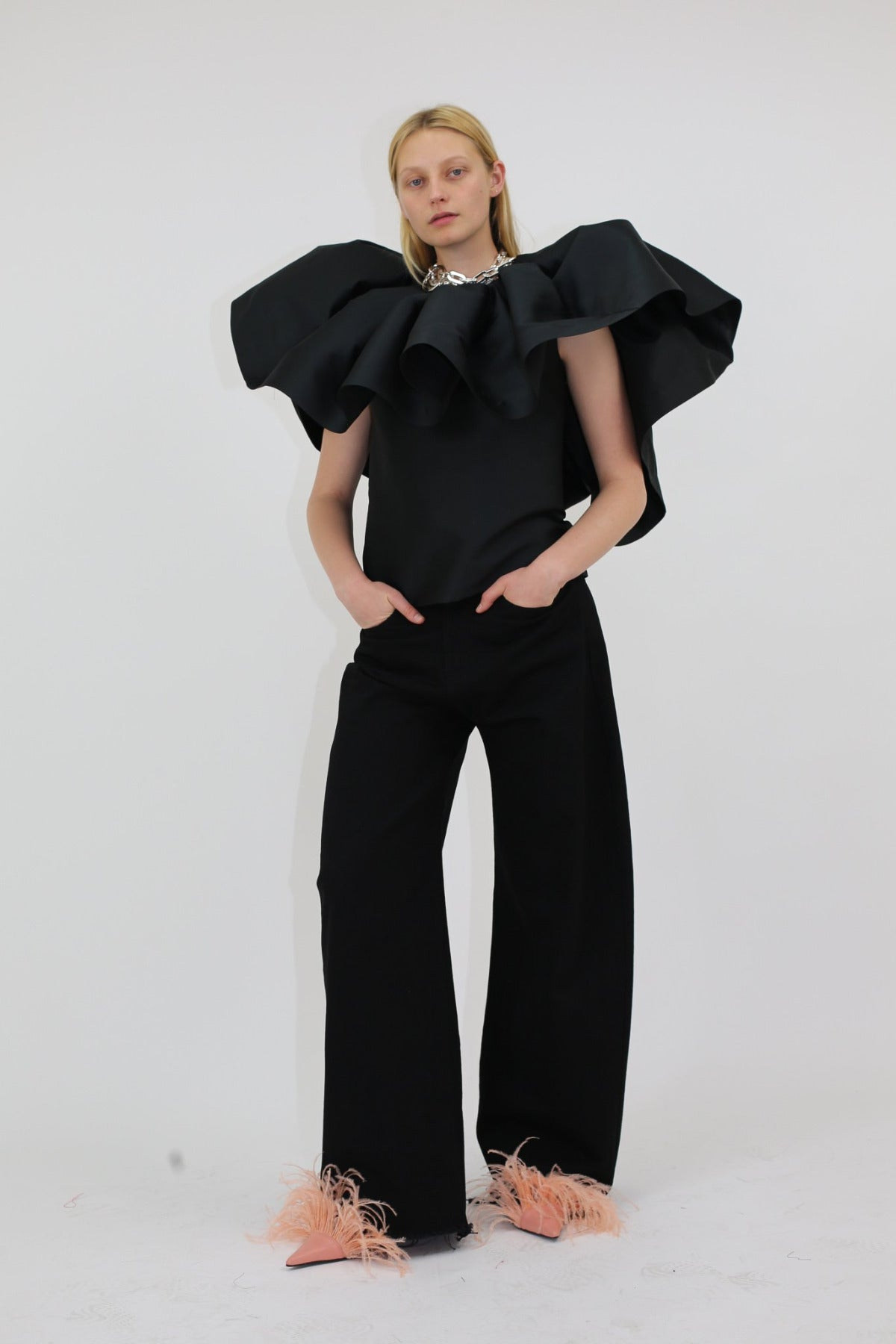 PLEATED CAPE TOP - marques-almeida-dev