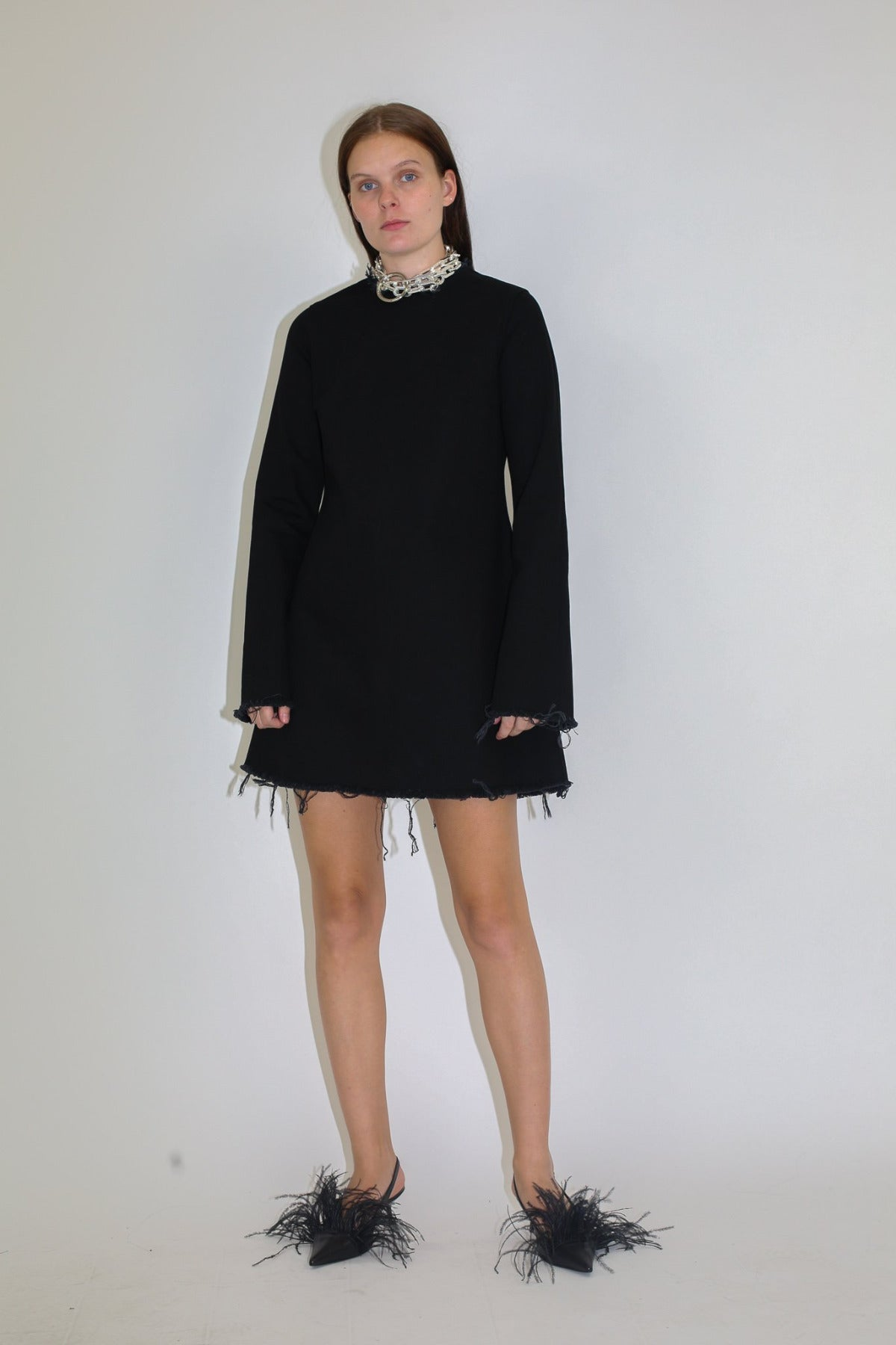 CLASSIC LONG SLEEVE SHORT DRESS - marques-almeida-dev