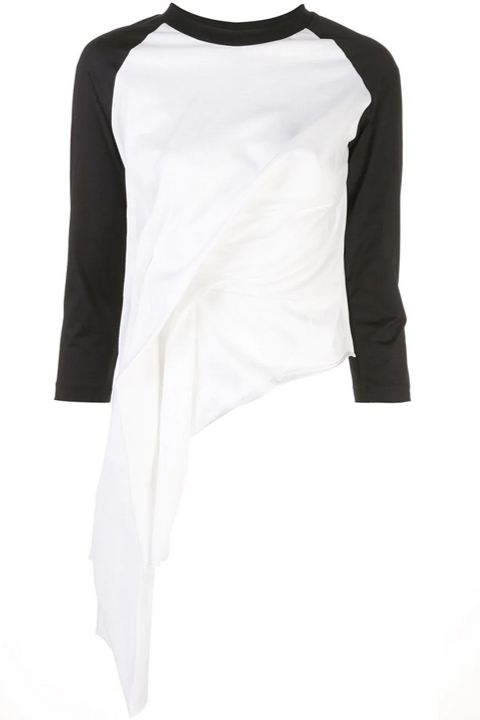 DRAPED RAGLAN SLEEVE TOP