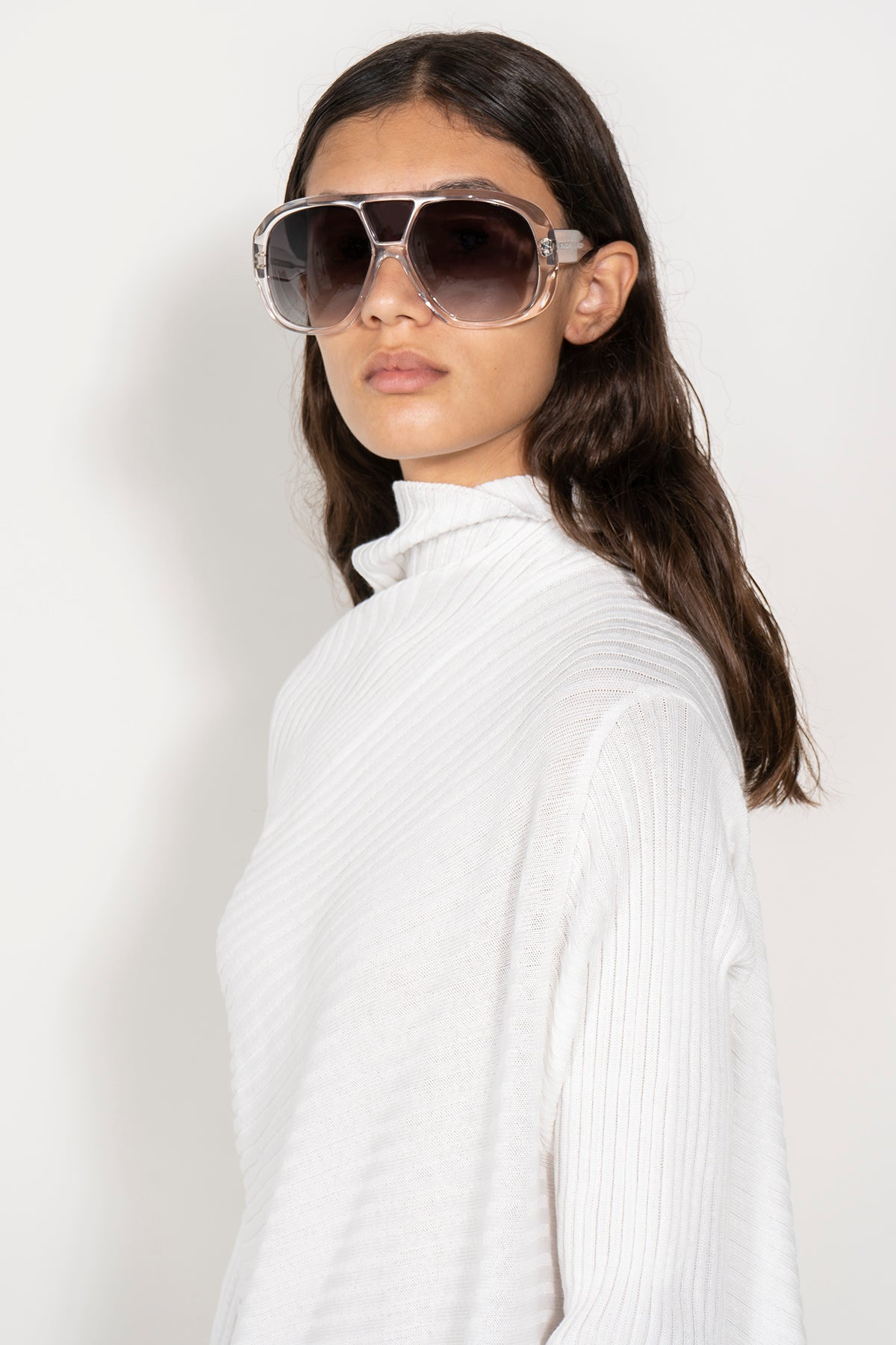CLEAR AVIATOR SUNGLASSES MARQUES ALMEIDA