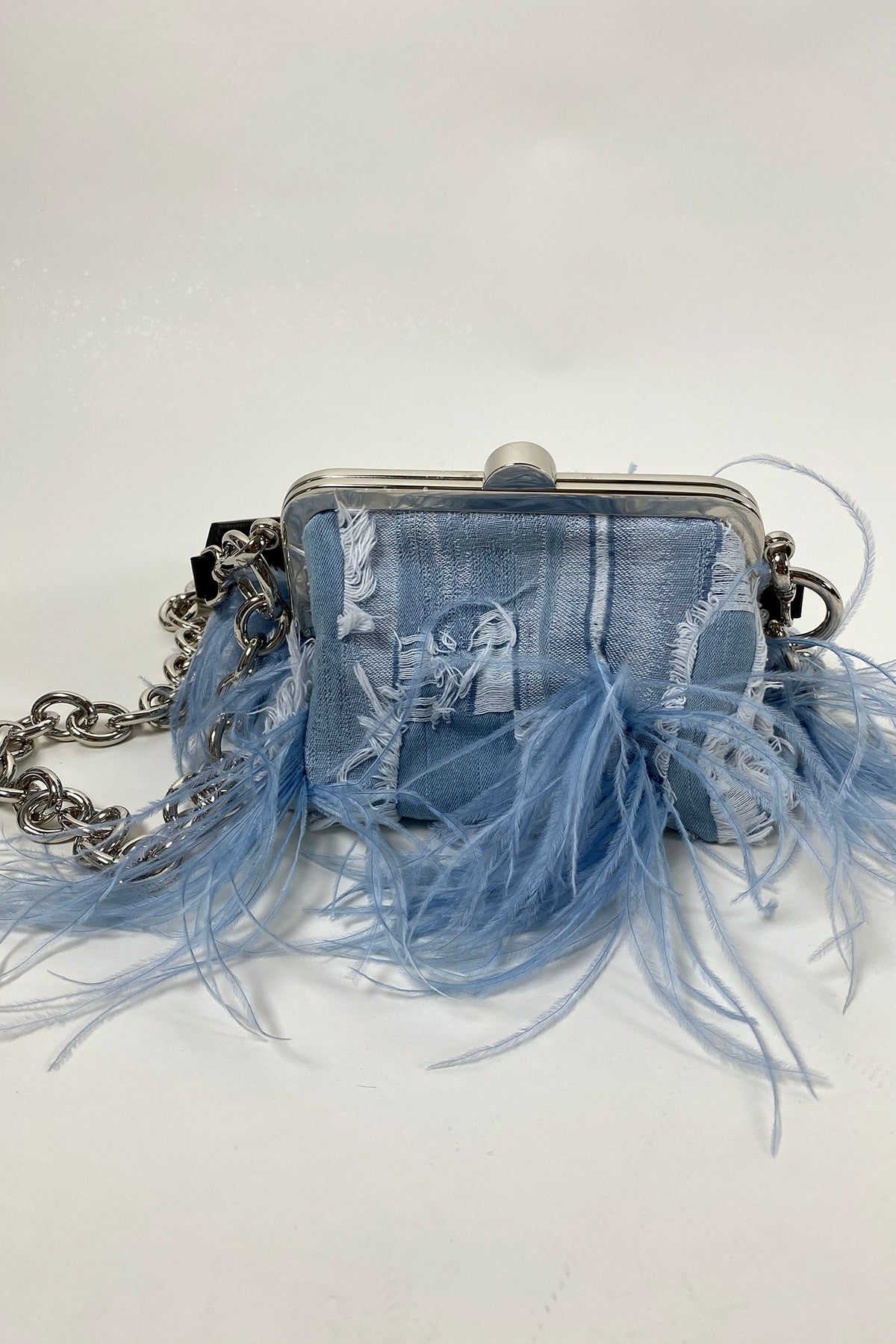 LIGHT BLUE MULTIPOCKET MINI CLASP BAG - marques-almeida