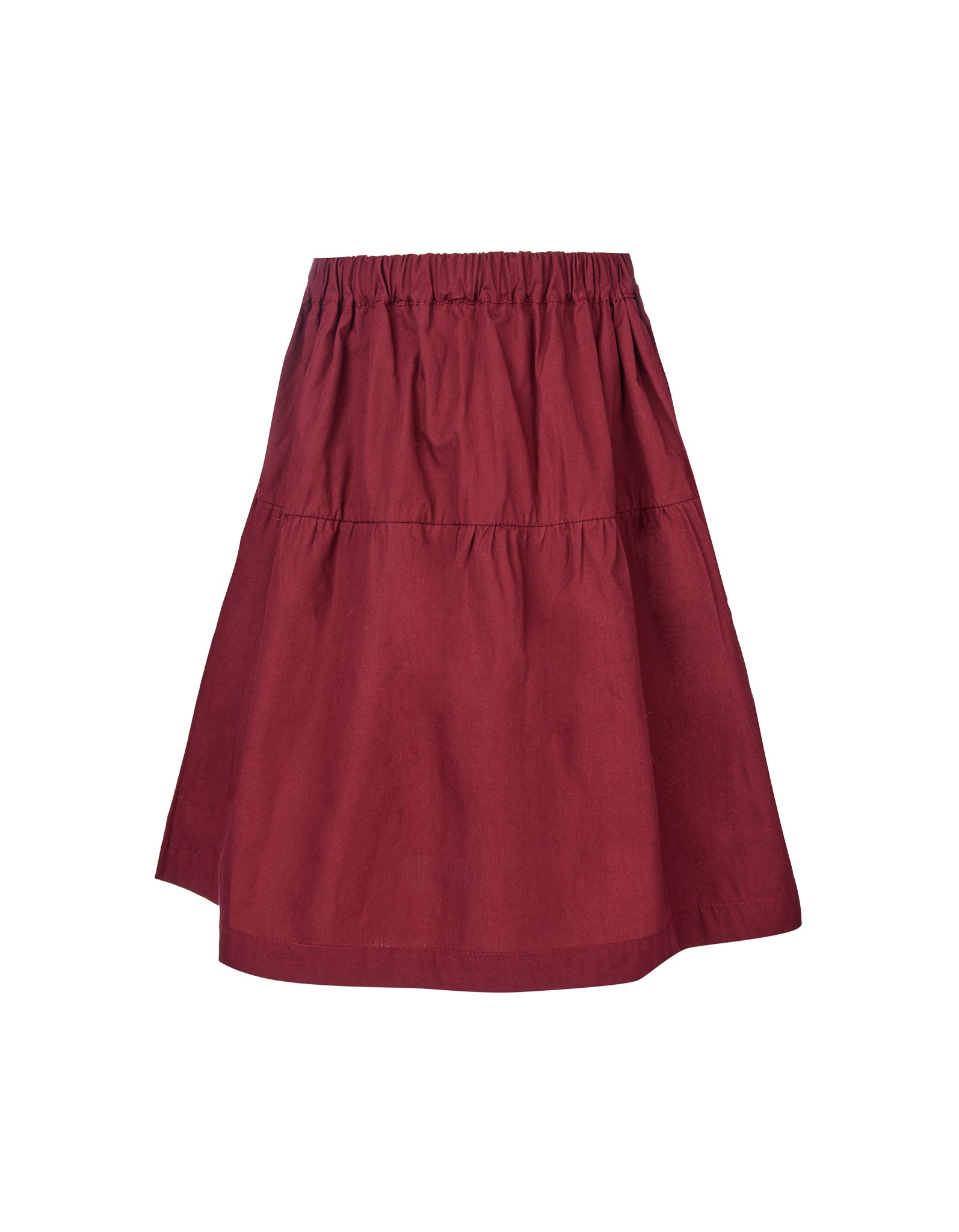 WAISTBAND SKIRT IN BURGUNDY