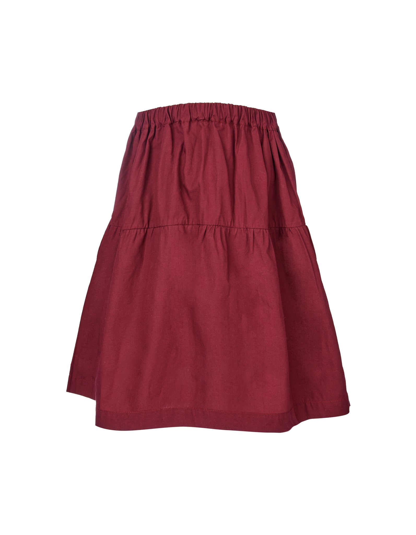 M'A KIDS WAISTBAND SKIRT IN BURGUNDY