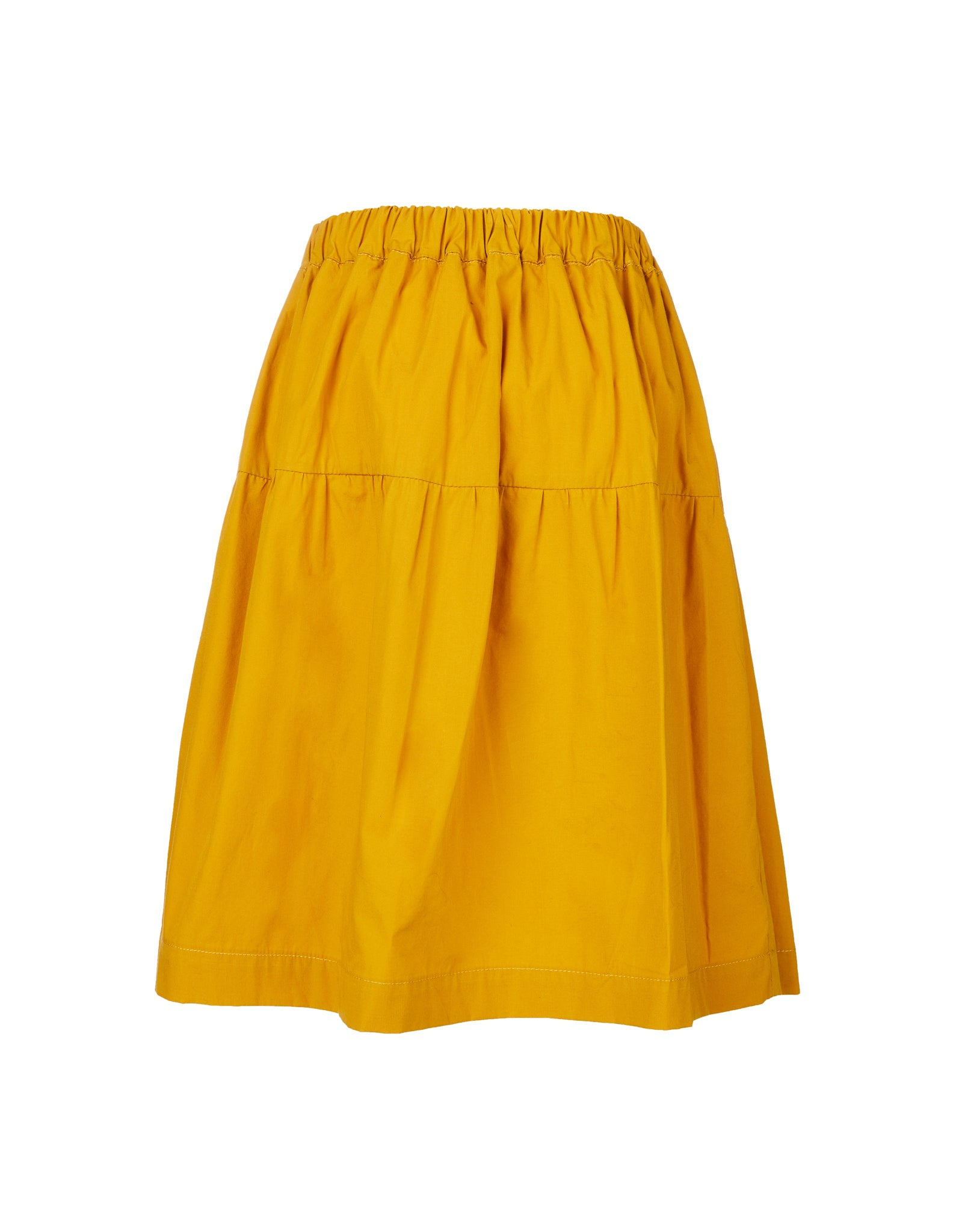 WAISTBAND SKIRT IN OCHRE