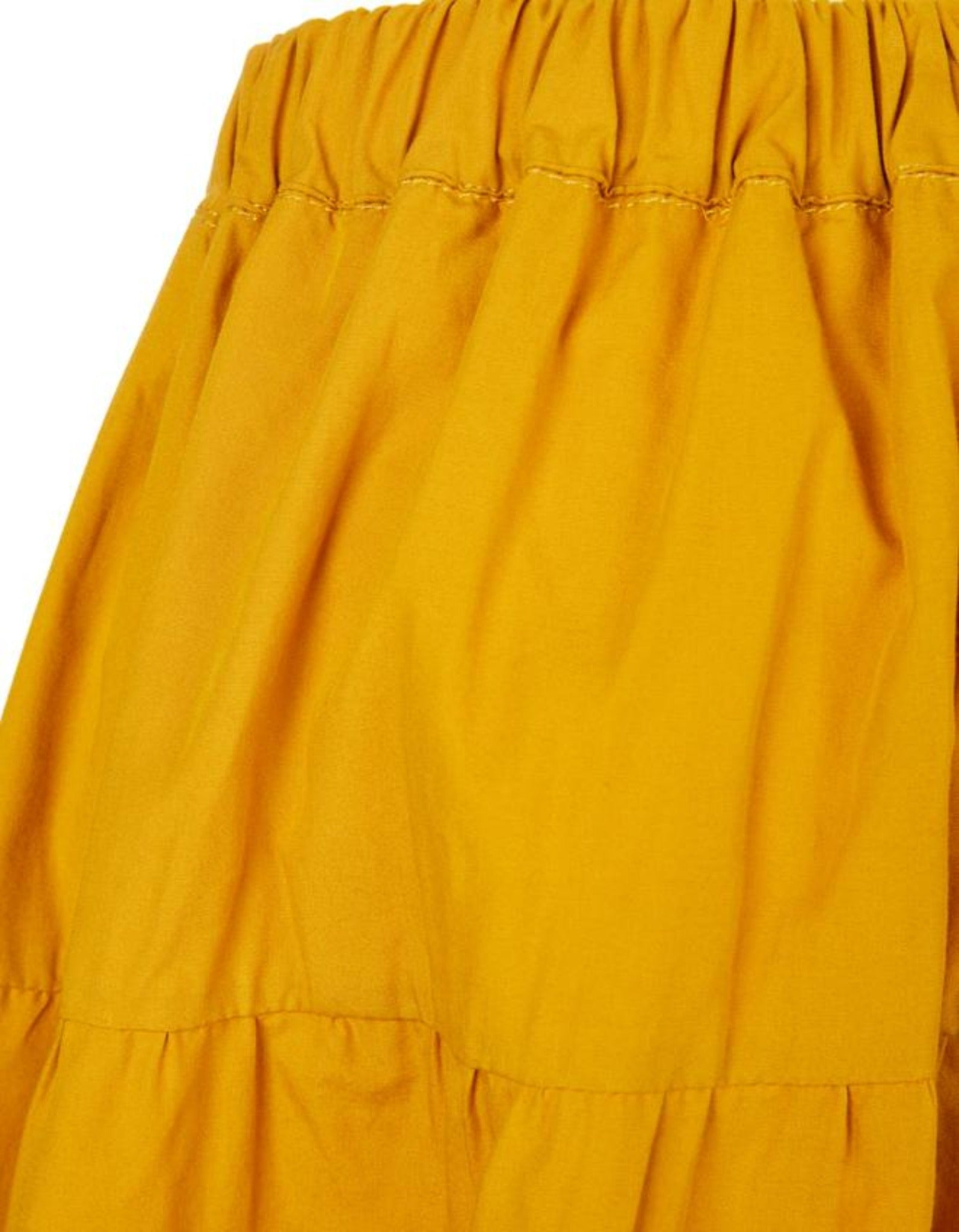 M'A KIDS WAISTBAND SKIRT IN OCHRE