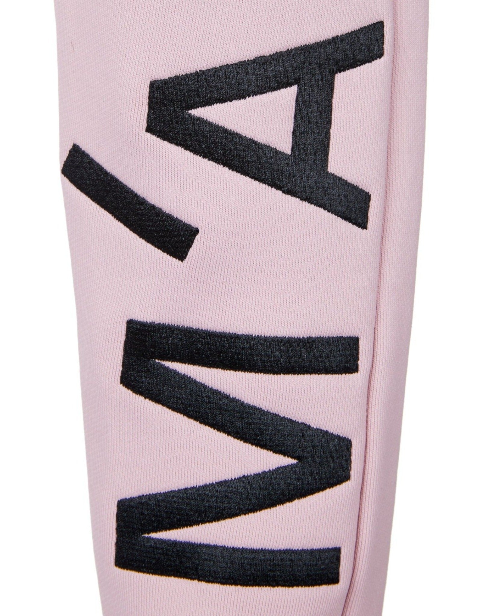 EMBROIDERED ELASTIC CUFF TROUSERS IN PINK
