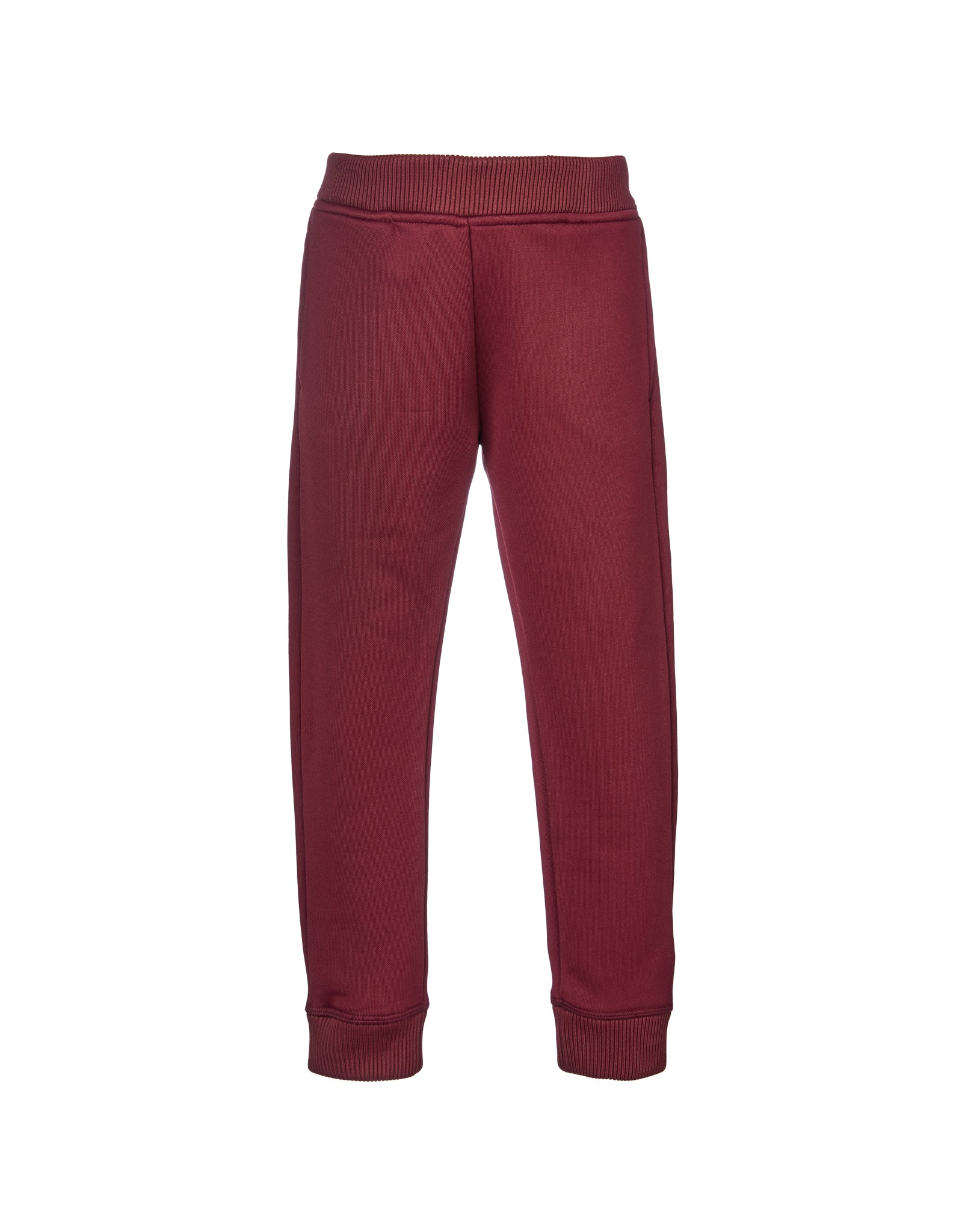 M'A KIDS ELASTIC CUFF TROUSERS IN BURGUNDY