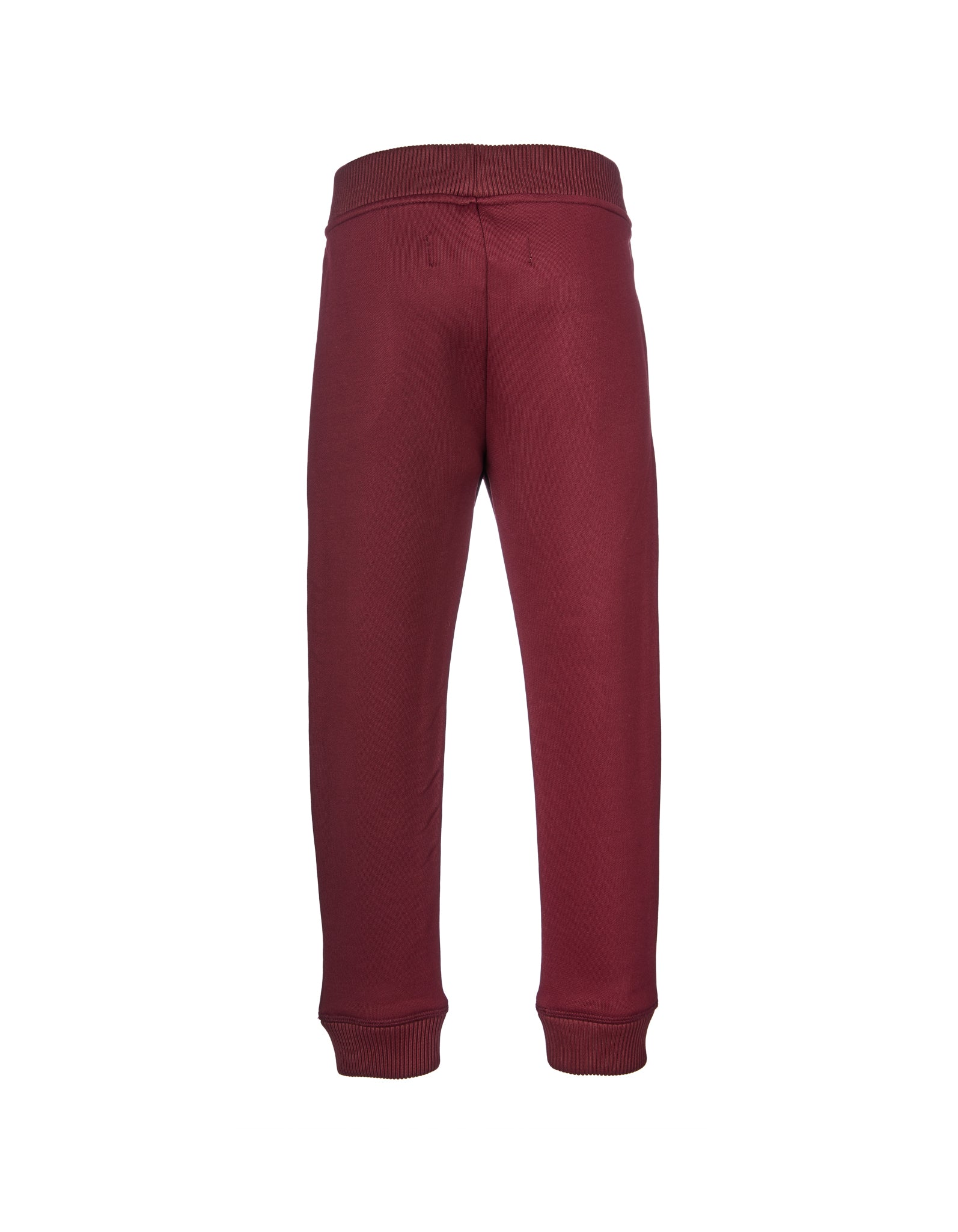 FLEECE ELASTIC CUFF TROUSERS IN BURGUNDY