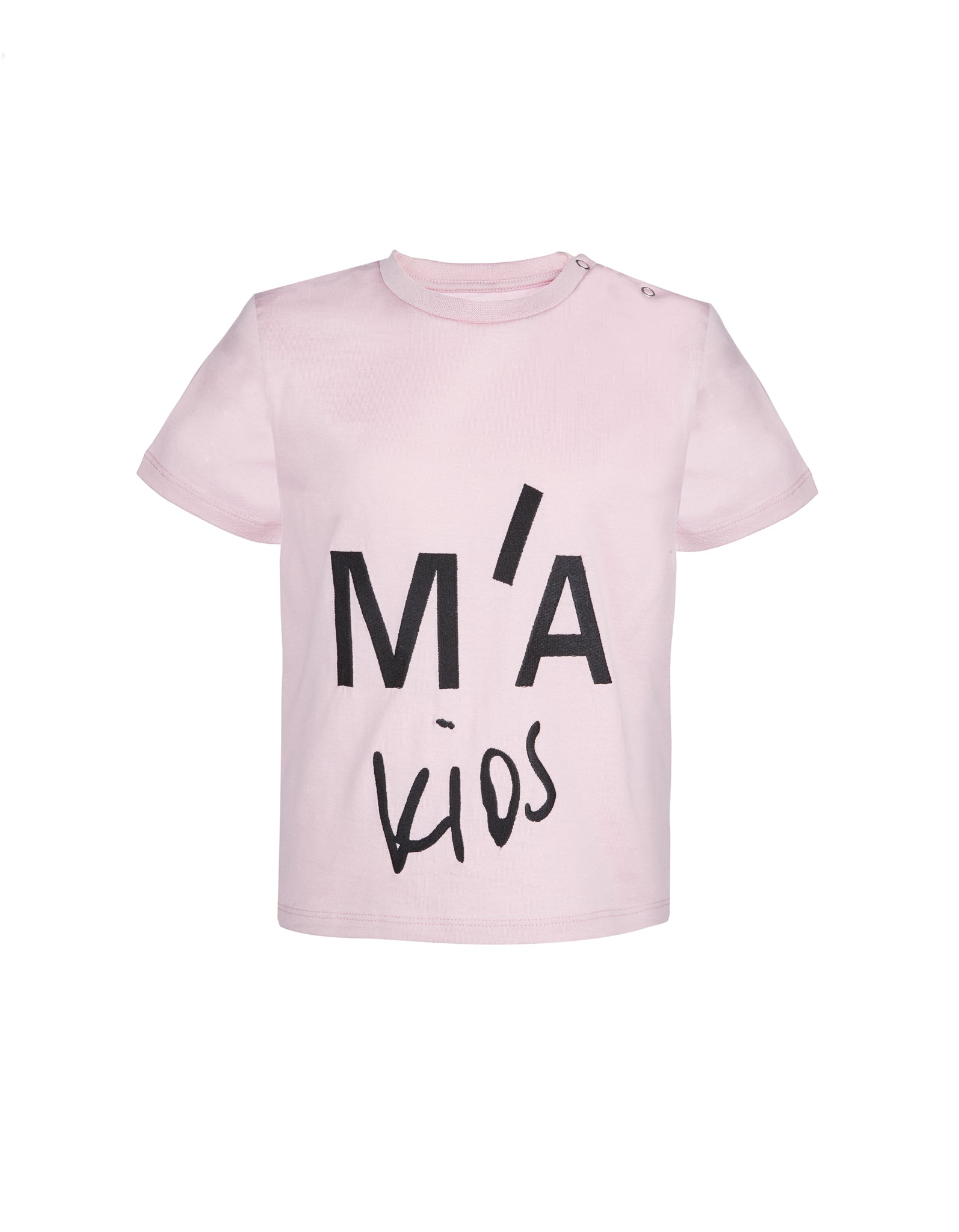 M'A KIDS EMBROIDERED CAP SLEEVE TOP IN PINK