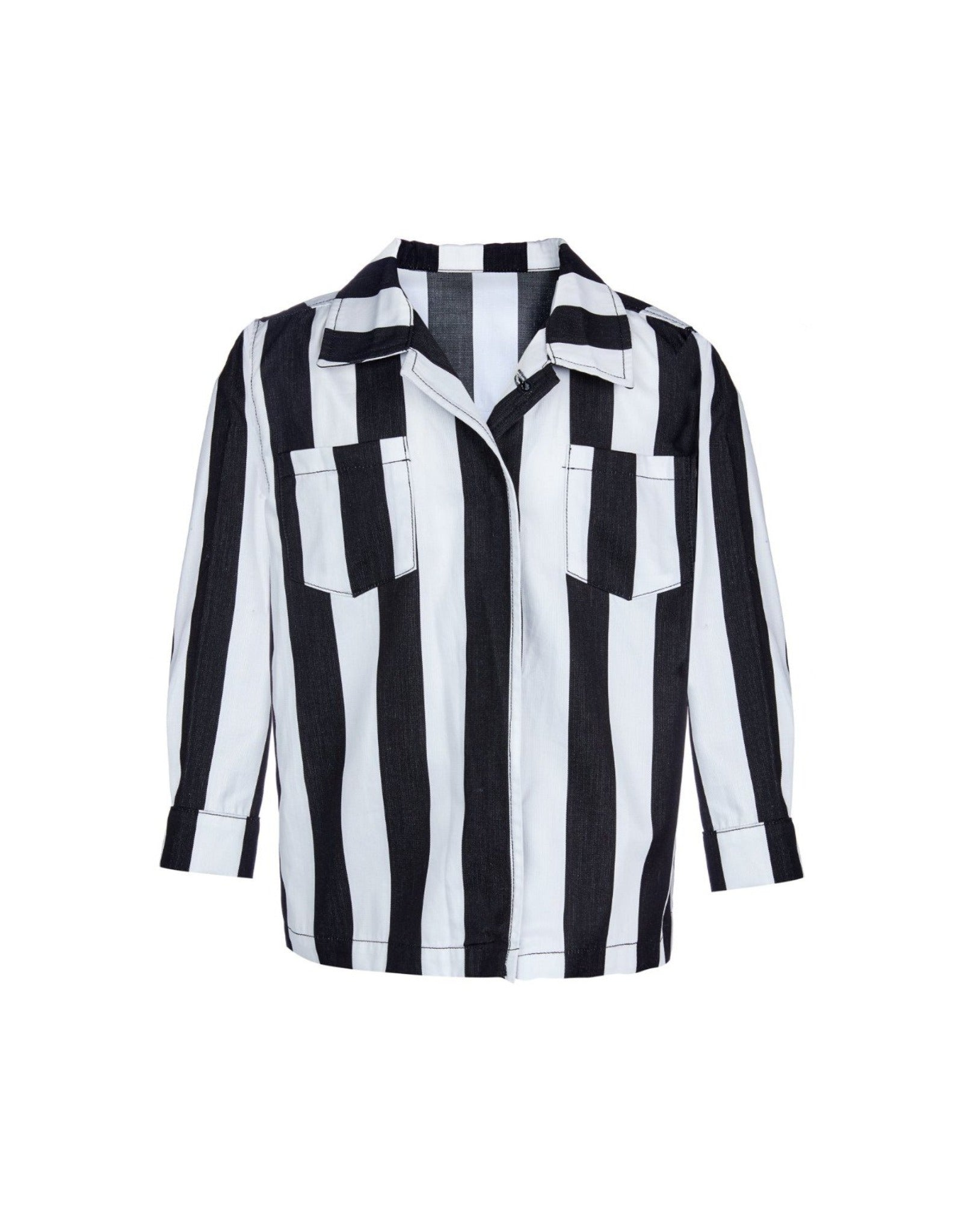 M'A KIDS STRIPED SHIRT IN BLACK AND WHITE