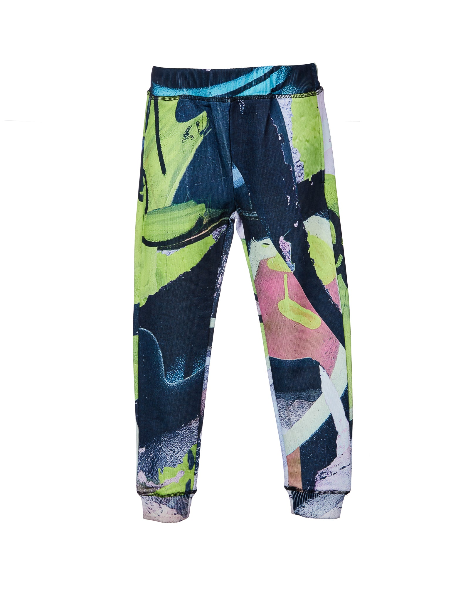 M'A KIDS ELASTIC CUFF TROUSERS IN PASTEL PRINT