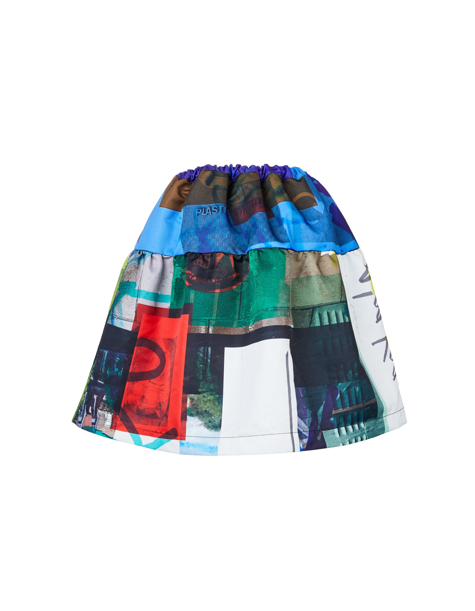 M'A KIDS FULL GATHERED SKIRT IN ECO PRINT