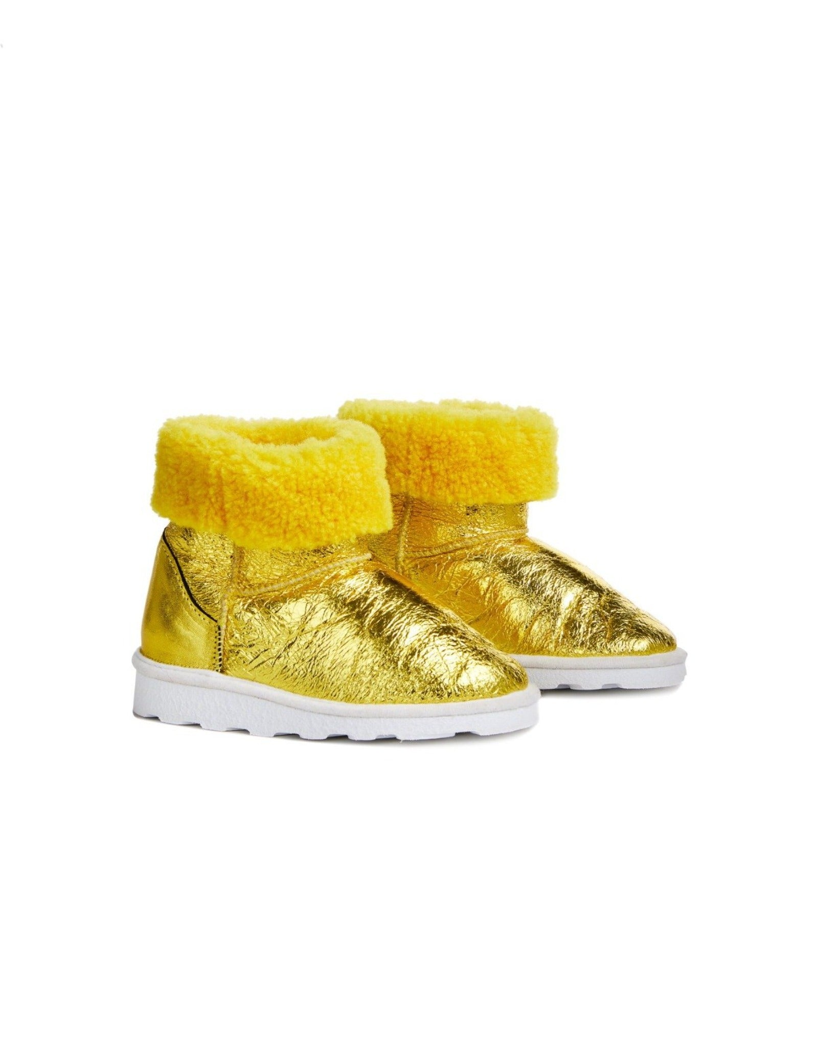M'A KIDS LEATHER BOOTS IN YELLOW