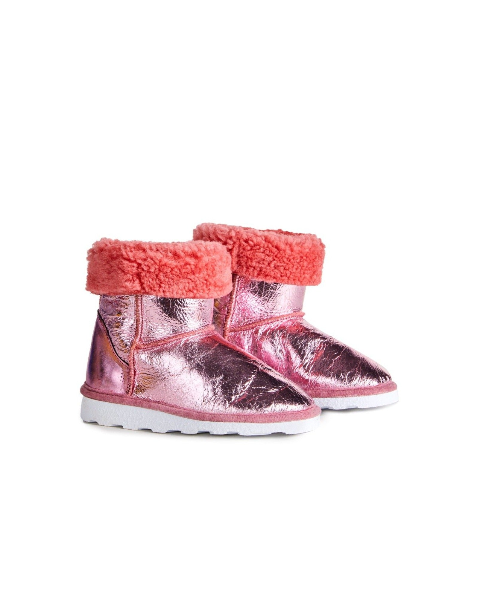 M'A KIDS LEATHER BOOTS IN PINK