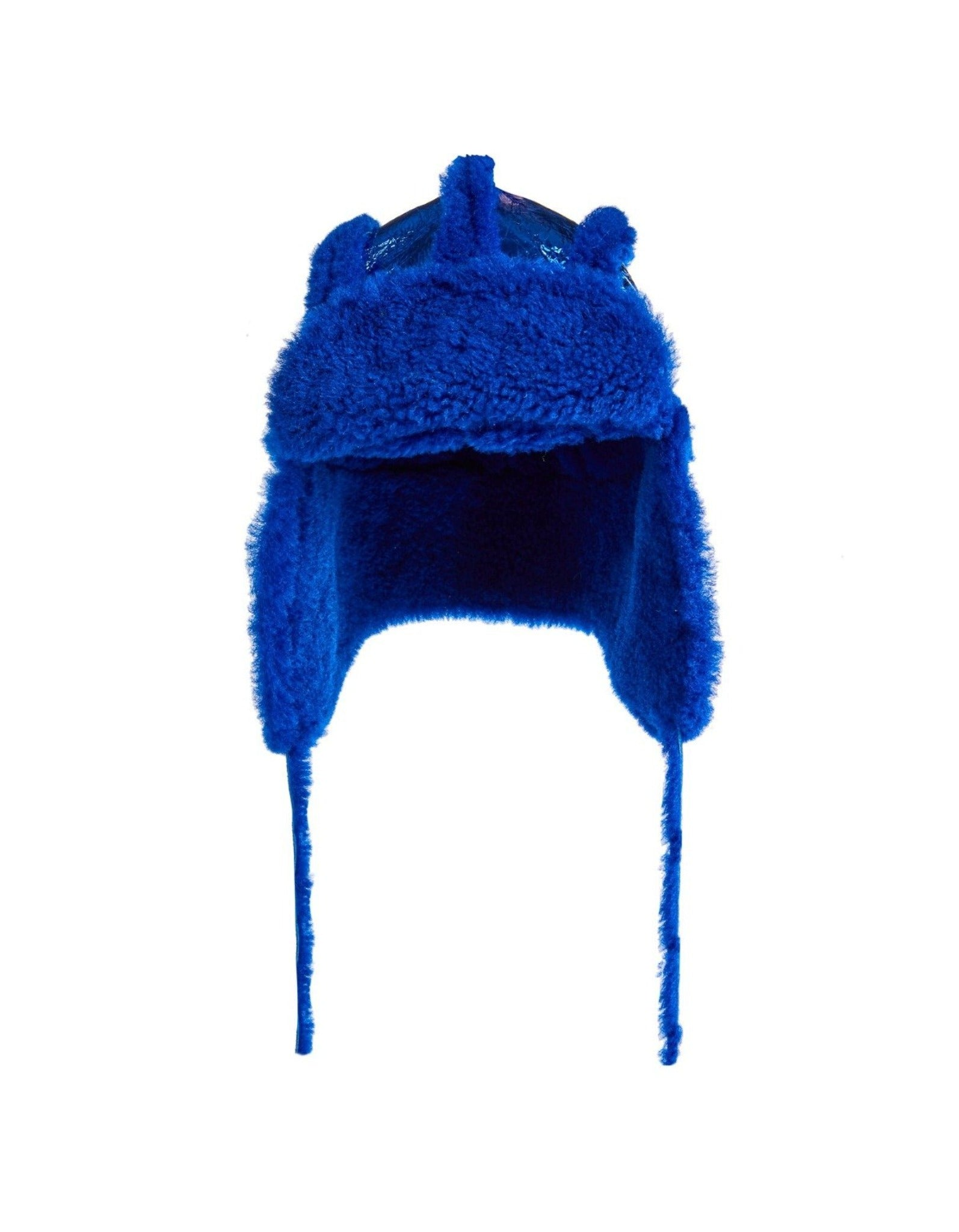 M'A KIDS EAR COVER HAT BLUE LEATHER