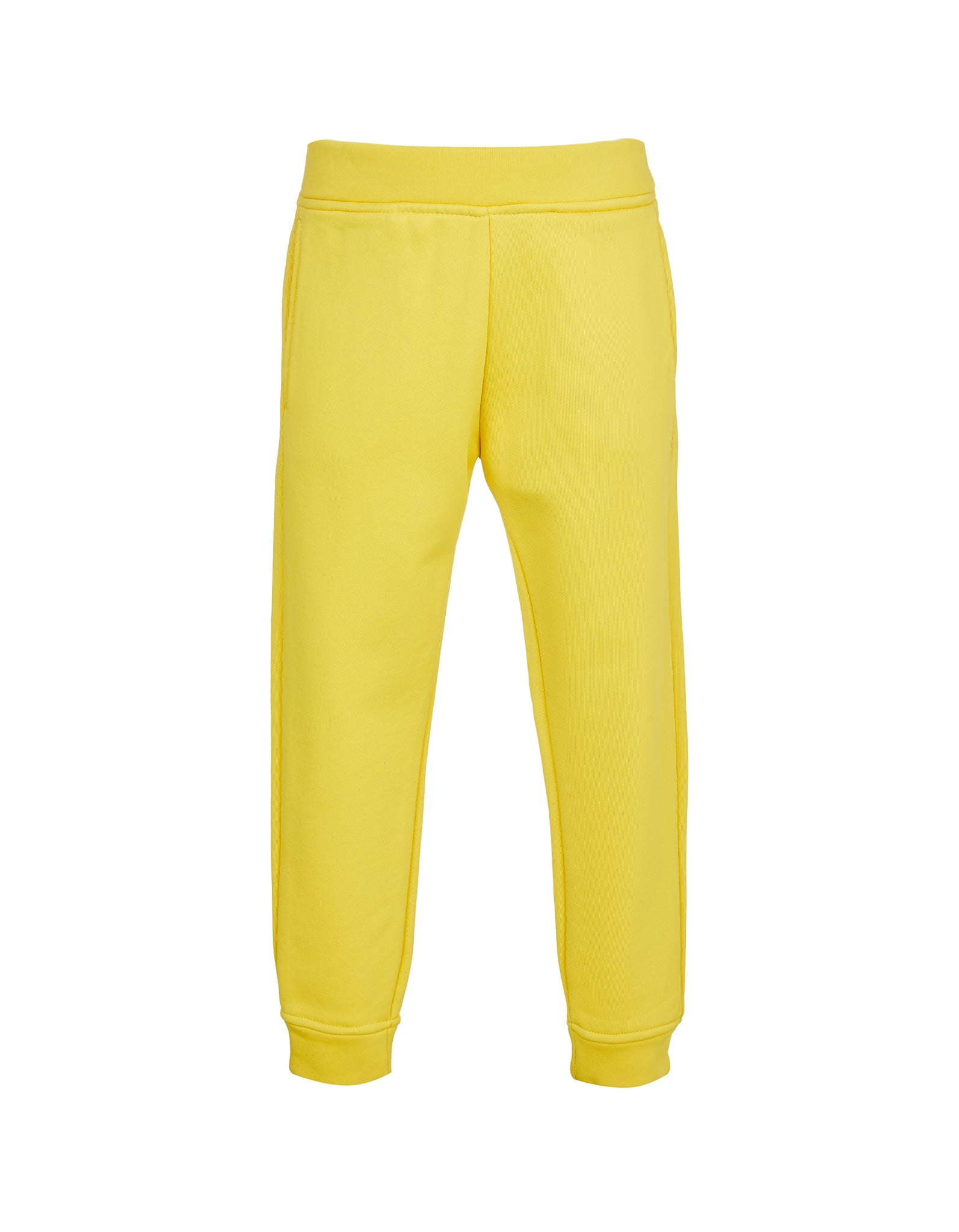 FLEECE ELASTIC CUFF TROUSERS IN YELLOW