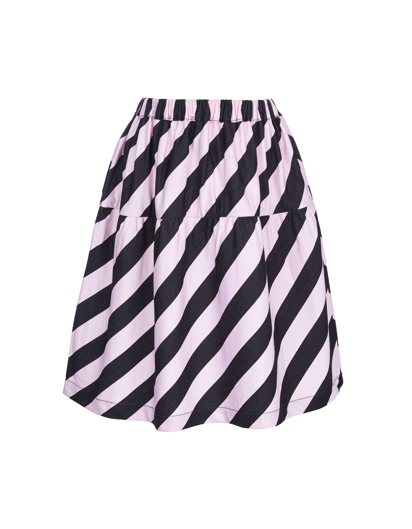 M'A KIDS WAISTBAND SKIRT IN PINK AND BLACK