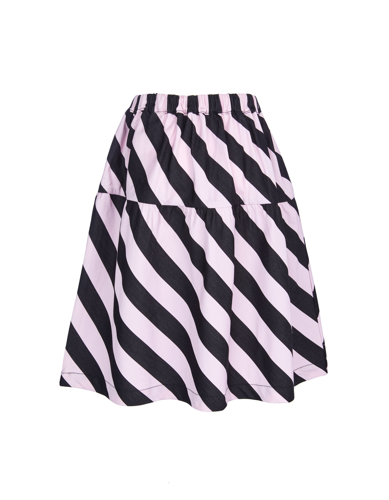 WAISTBAND SKIRT IN PINK AND BLACK