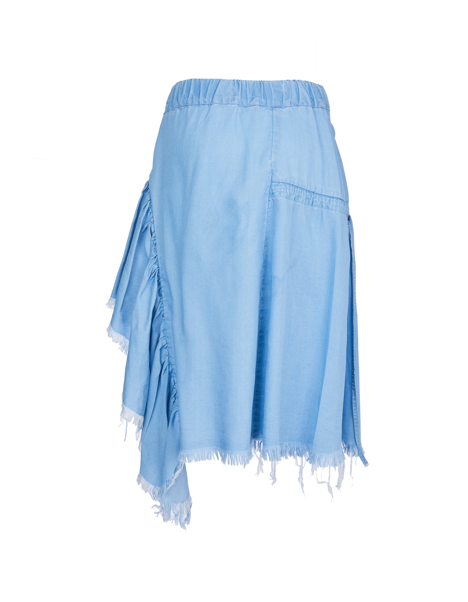 GATHERED SKIRT IN BABY BLUE