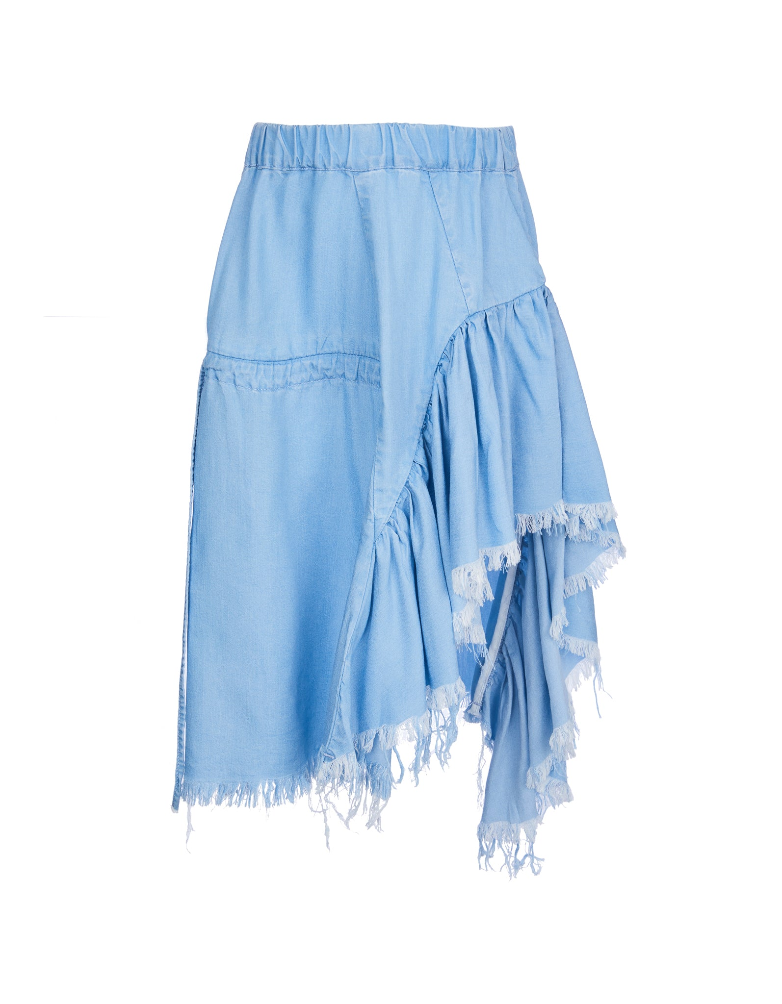 M'A KIDS GATHERED SKIRT IN BABY BLUE