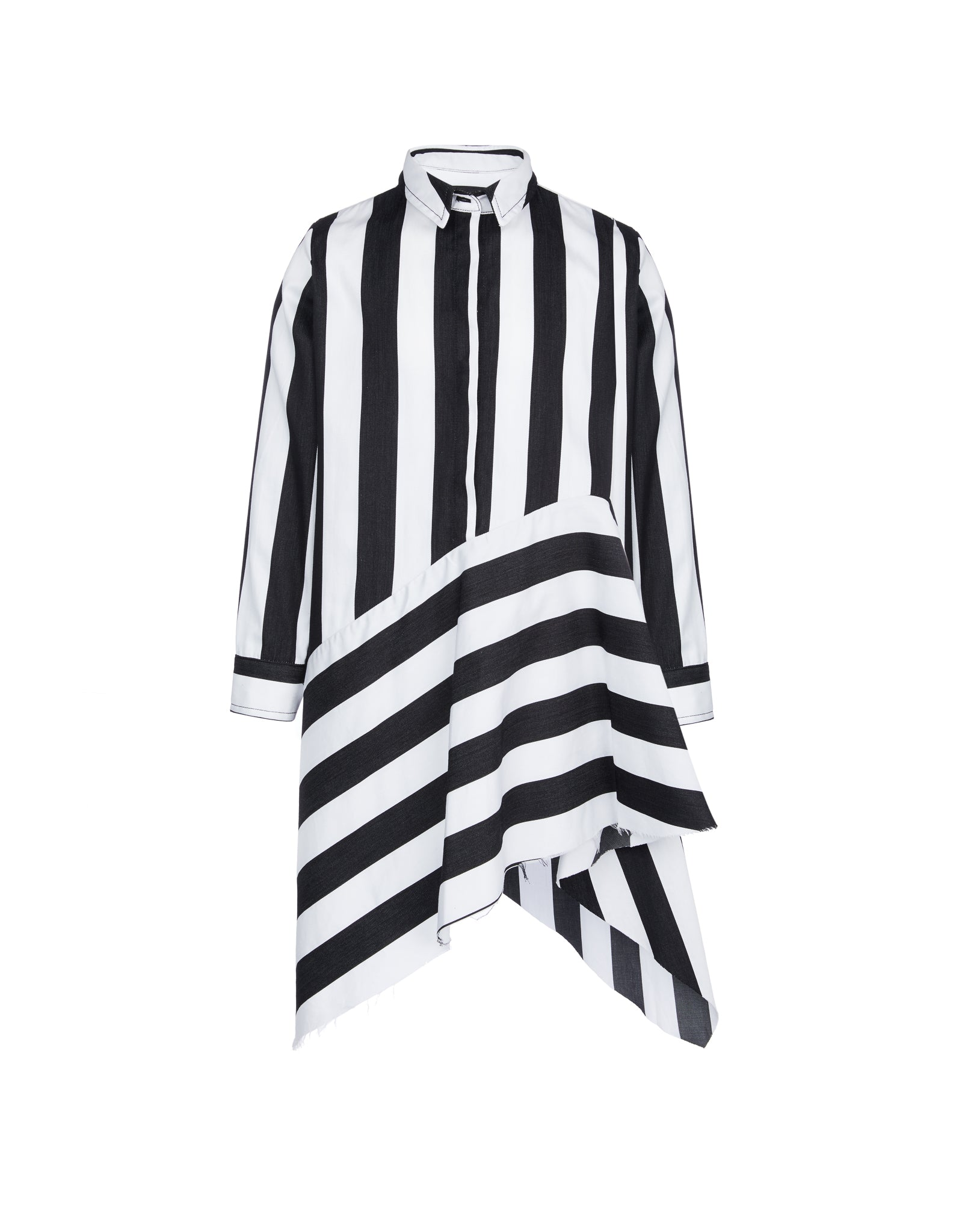 SHIRT DRESS IN BLACK AND WHITE