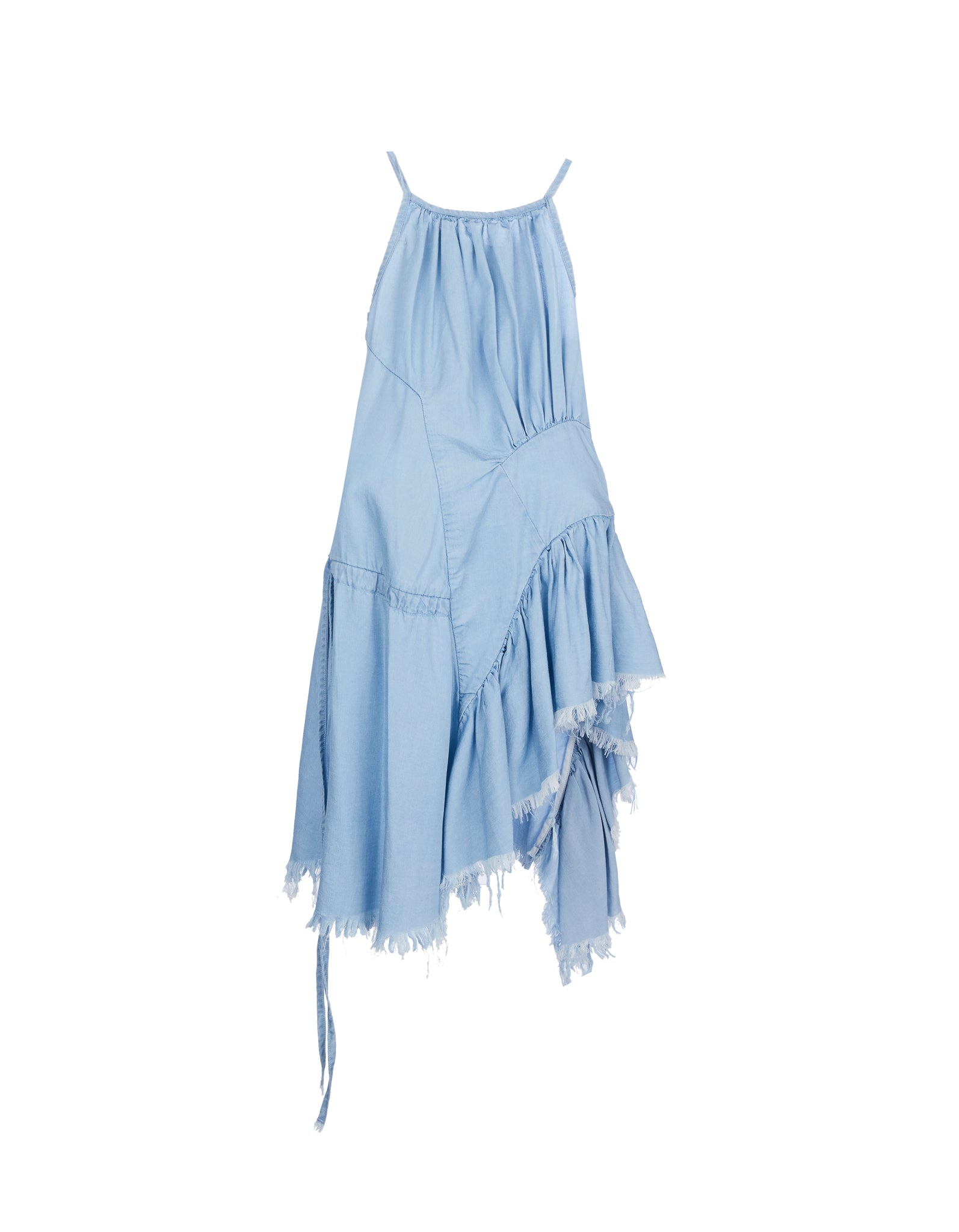 M'A KIDS GATHERED DRESS IN BABY BLUE