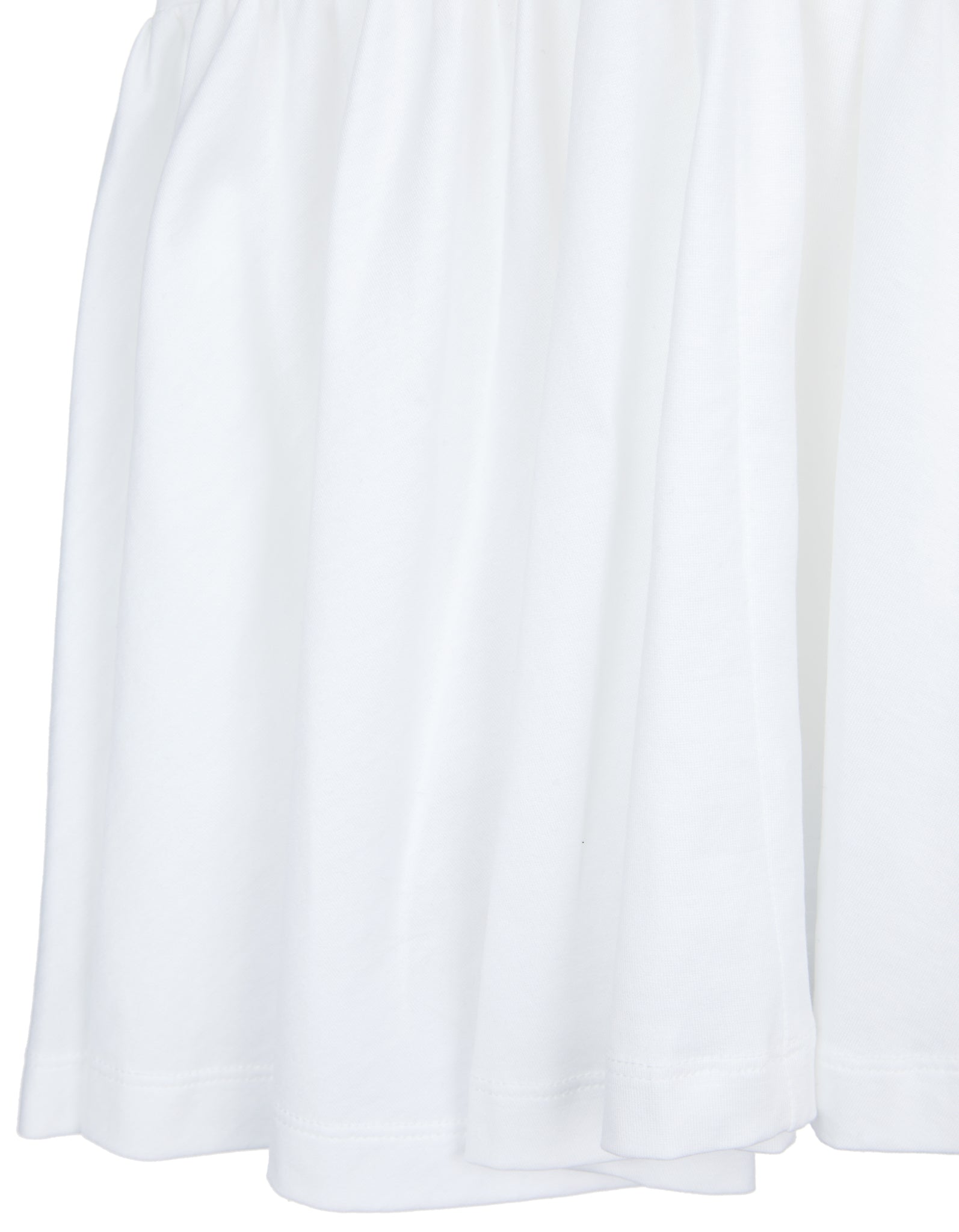 M'A KIDS GATHERED SEAMS DRESS IN WHITE
