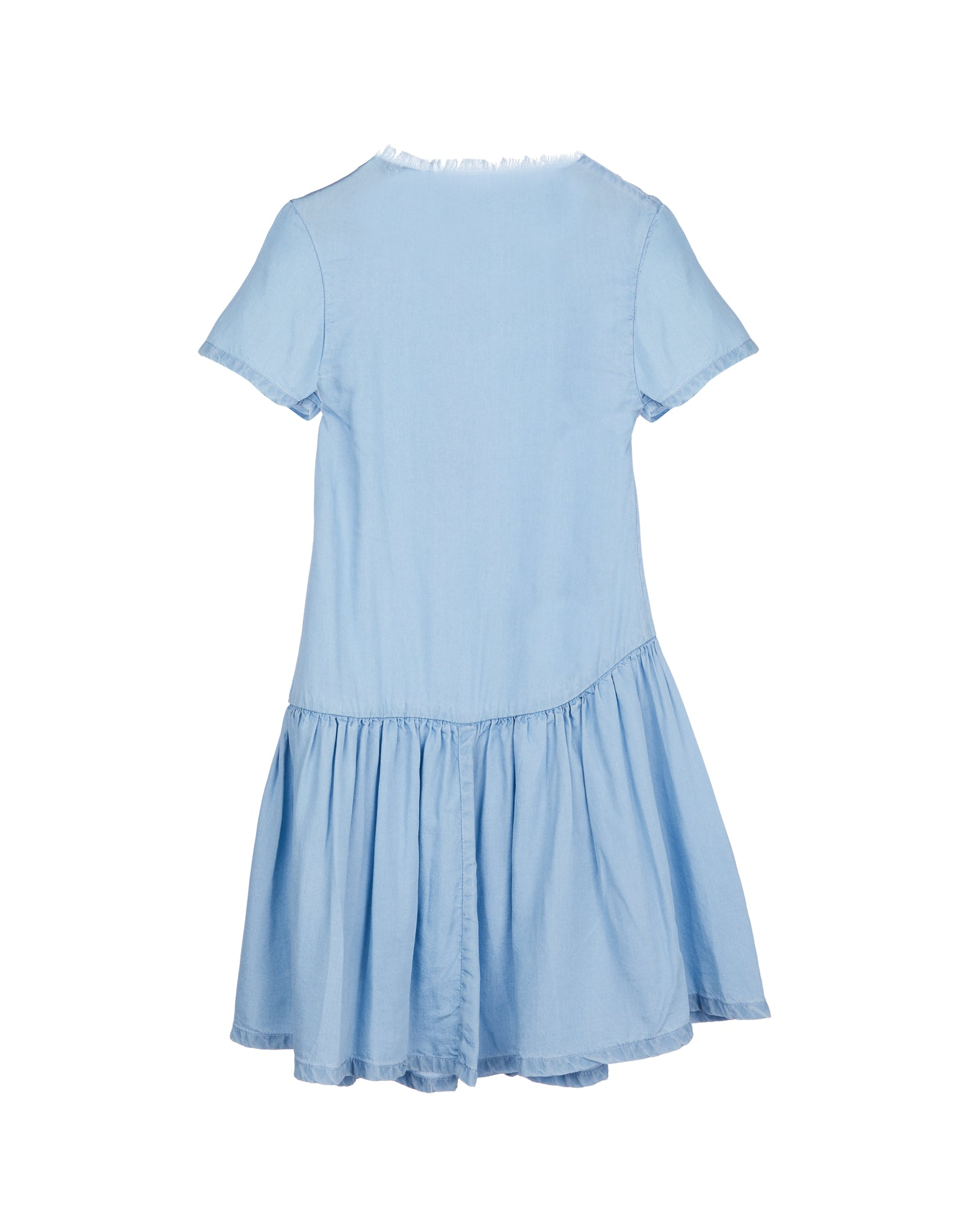T-SHIRT DRESS WITH SEAMS AND GATHERS