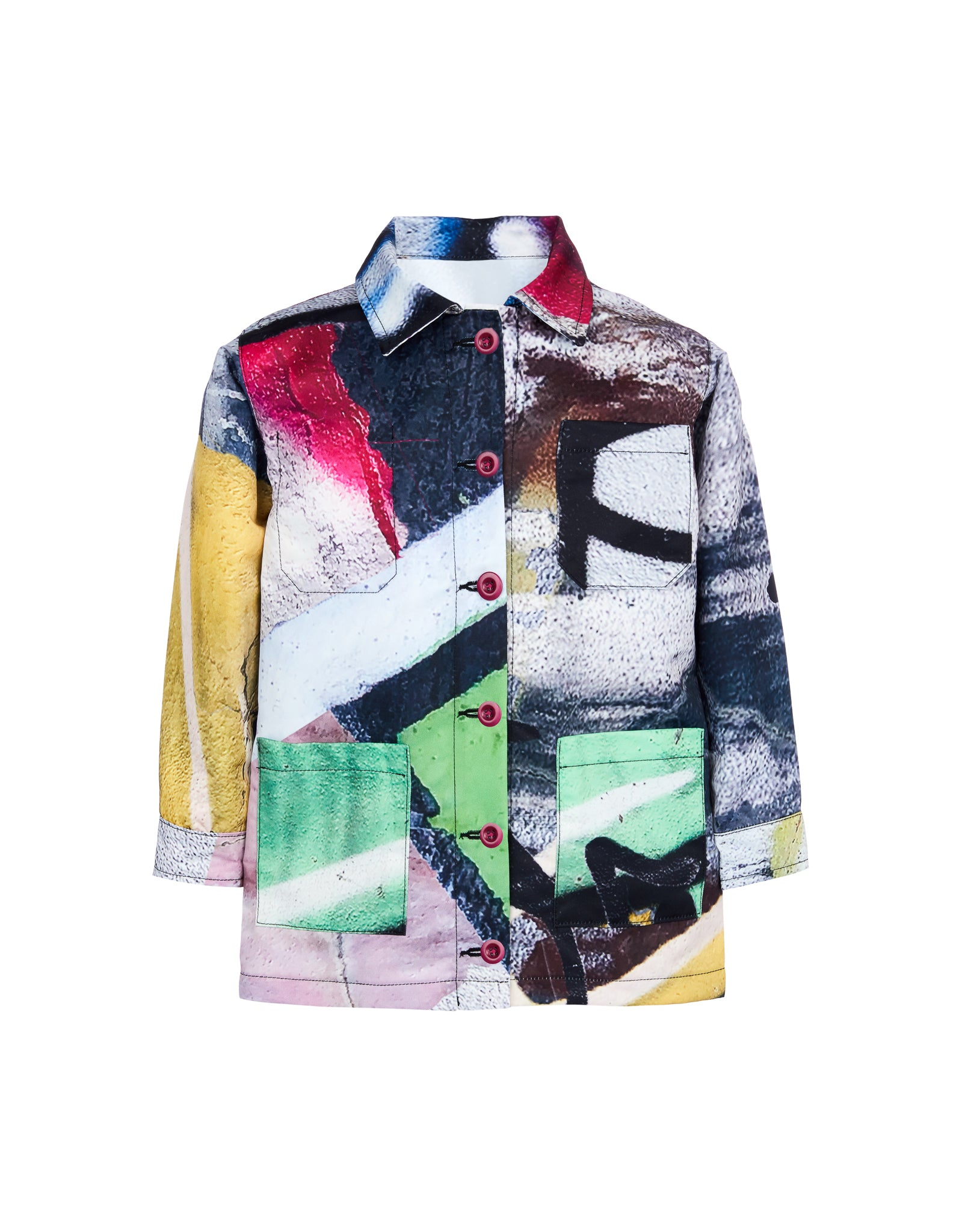 M'A KIDS WORKWEAR JACKET IN BRIGHT PRINT