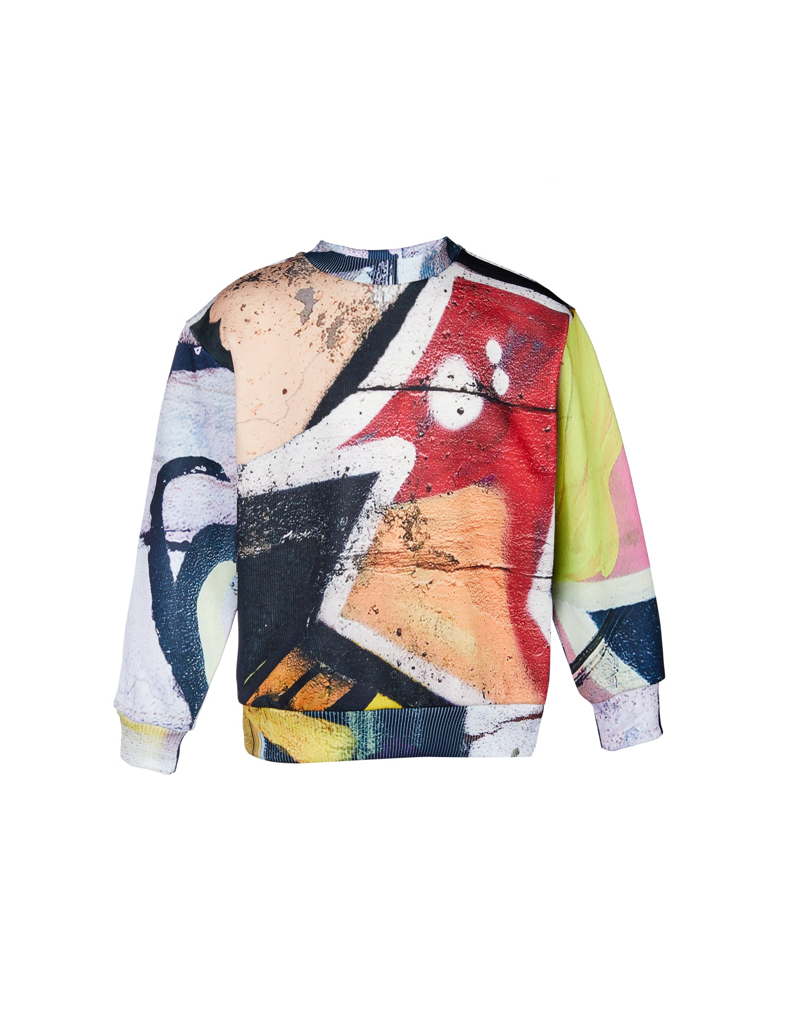 FLEECE CREW NECK IN BRIGHT PRINT
