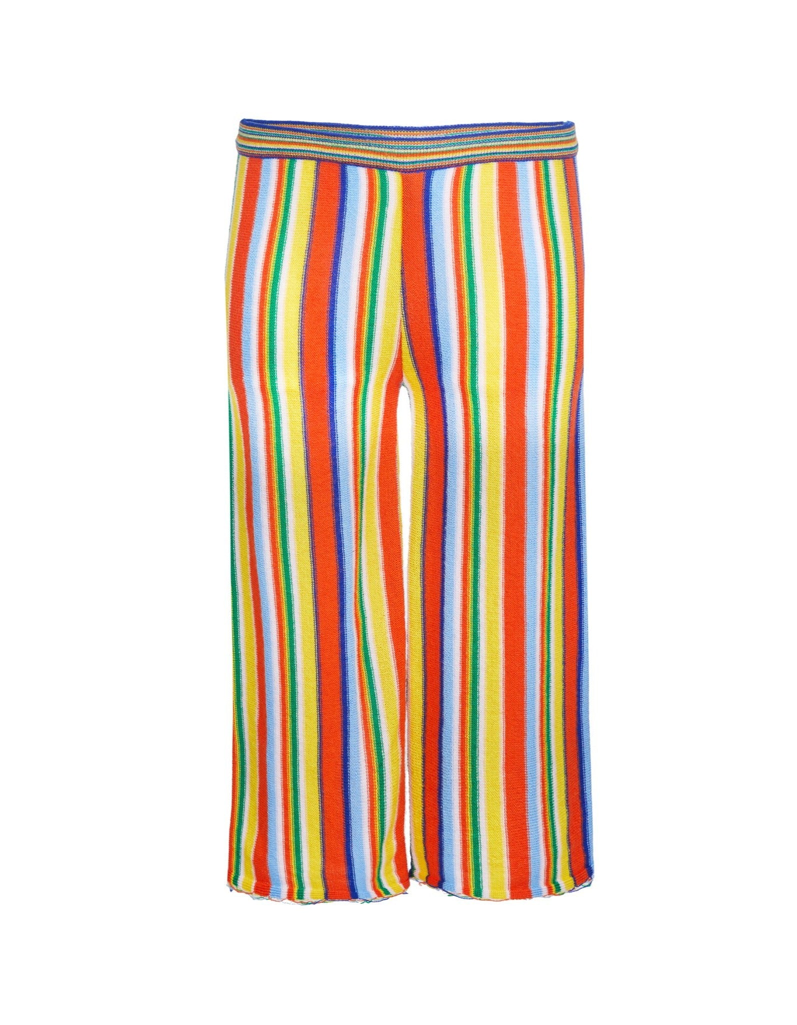 M'A KIDS WAISTBAND TROUSERS IN MULTI STRIPE