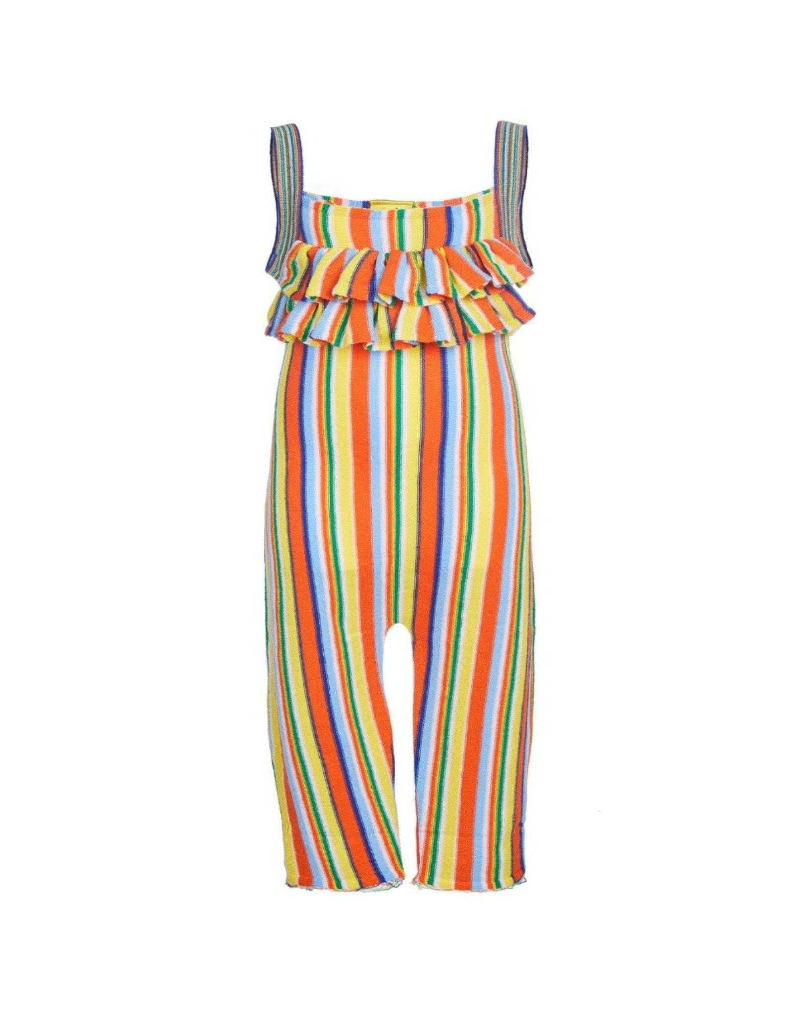 JUMPSUIT IN MULTI STRIPES