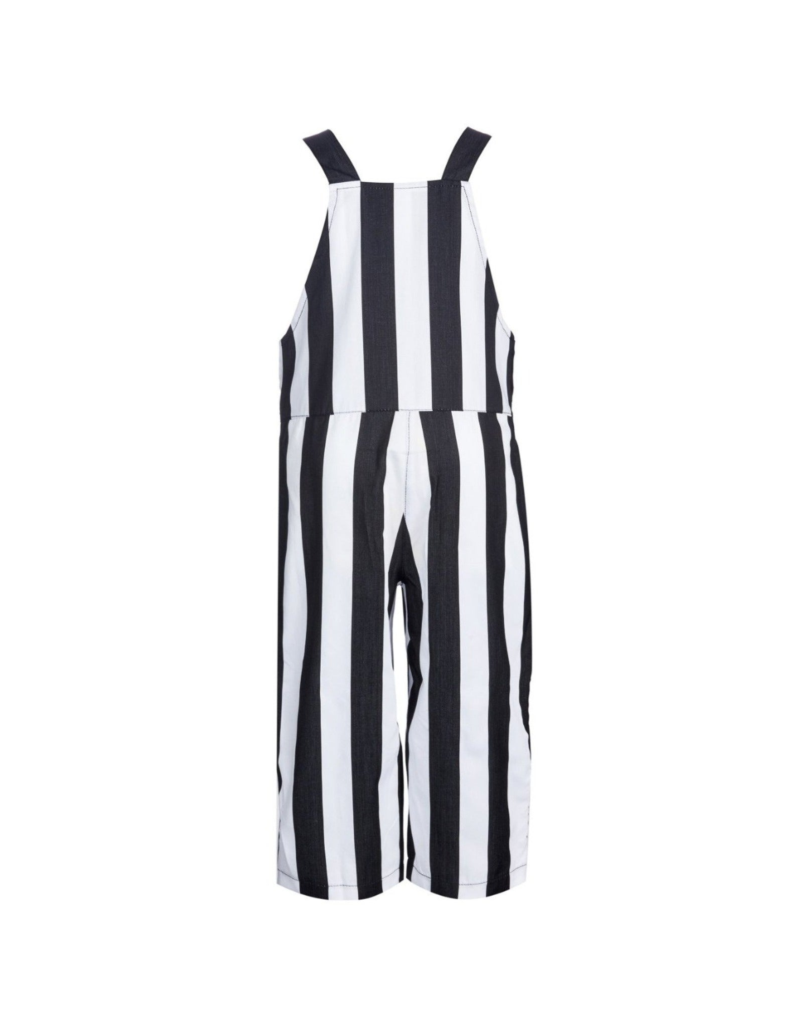 JUMPSUIT IN BLACK AND WHITE STRIPES