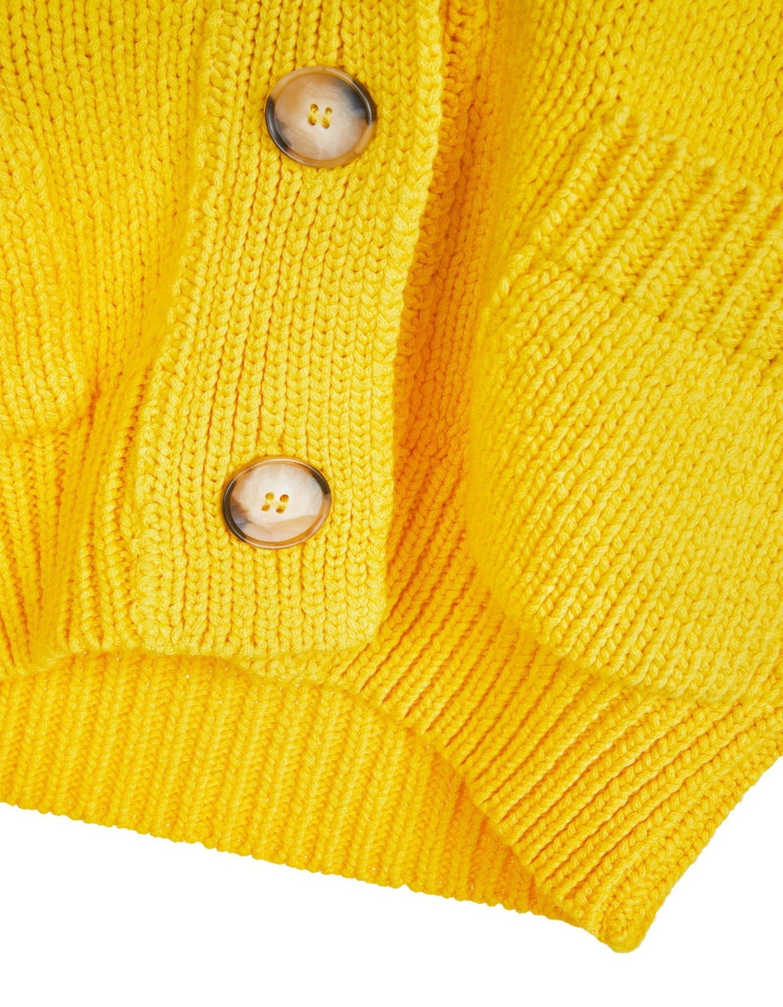CHUNKY CARDIGAN IN YELLOW