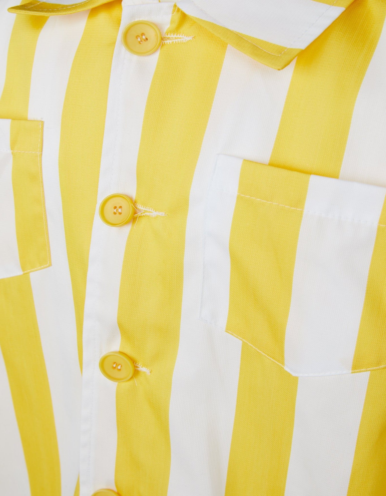M'A KIDS STRIPED SHIRT IN YELLOW AND WHITE