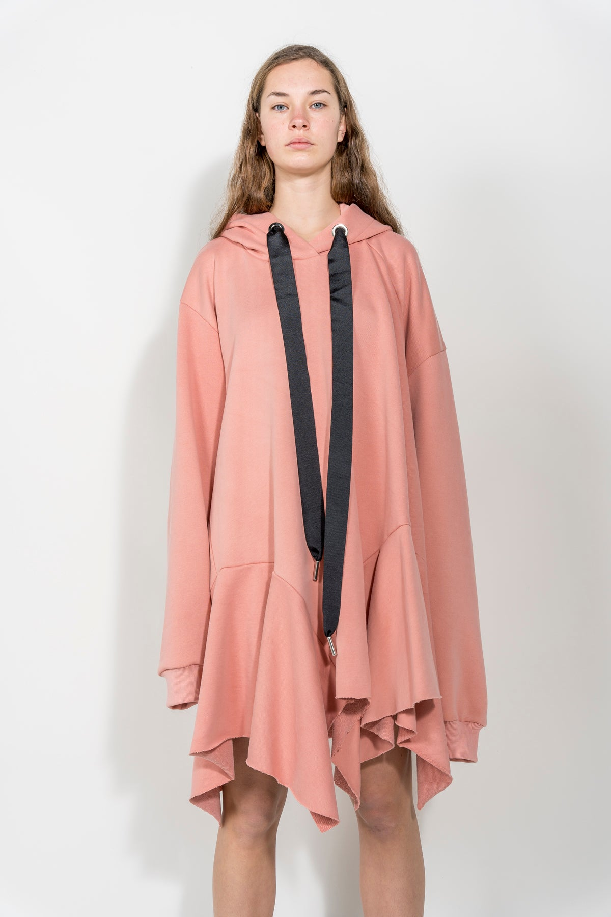 PINK ASYMMETRIC HOODIE DRESS MARQUES ALMEIDA