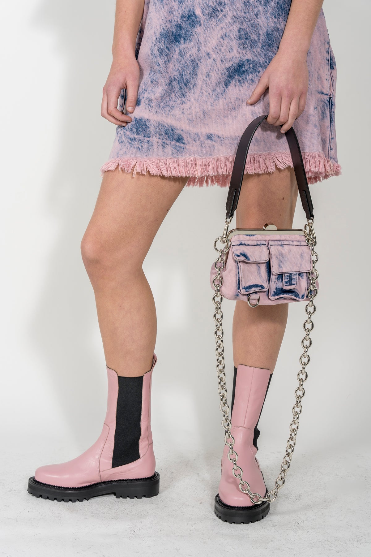 PINK DENIM BAG MARQUES ALMEIDA