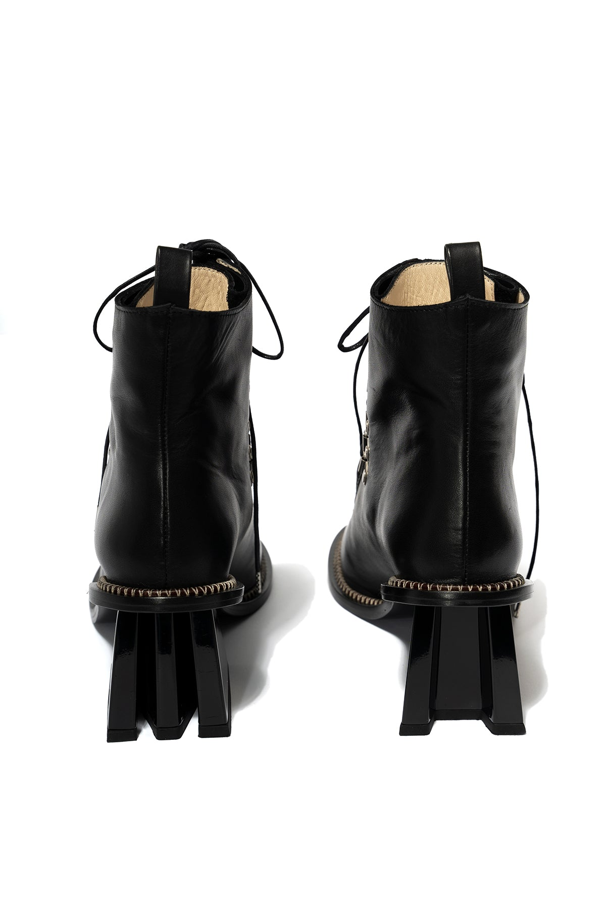 BLACK M'A HEEL BOOT