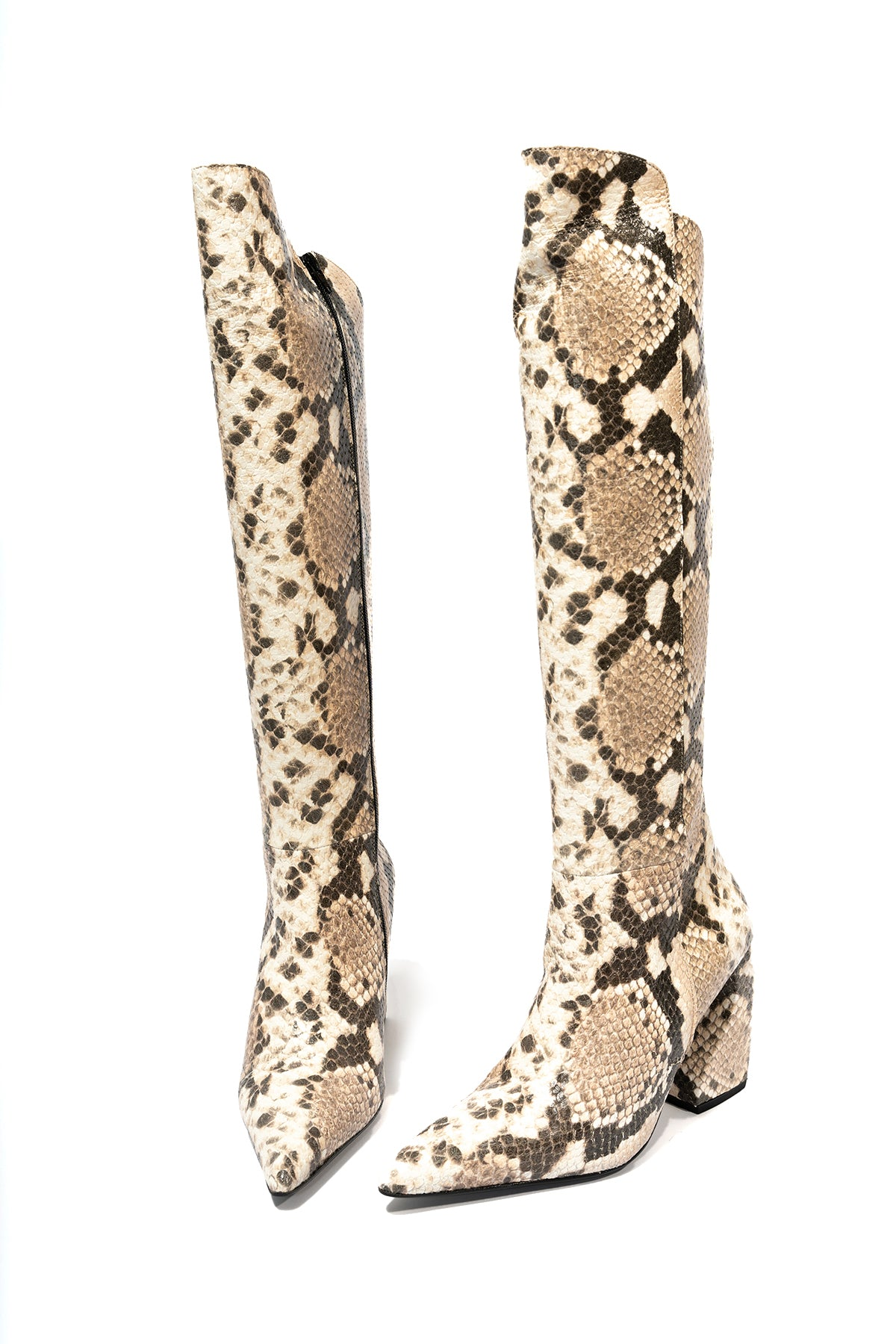 marques almeida HIGH KNEE SNAKE BOOTS