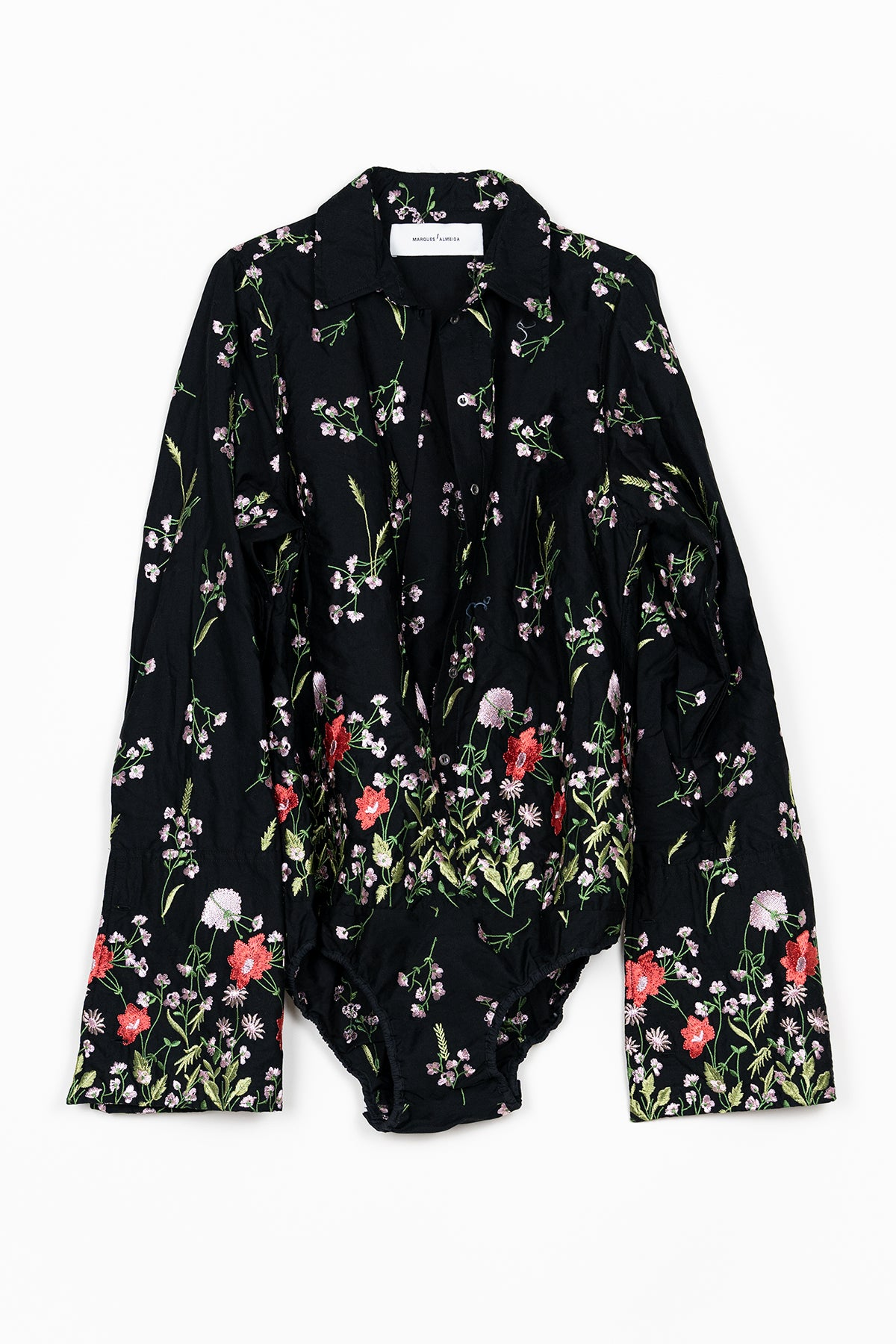 EMBROIDERED LONG SLEEVE BODY marques almeida