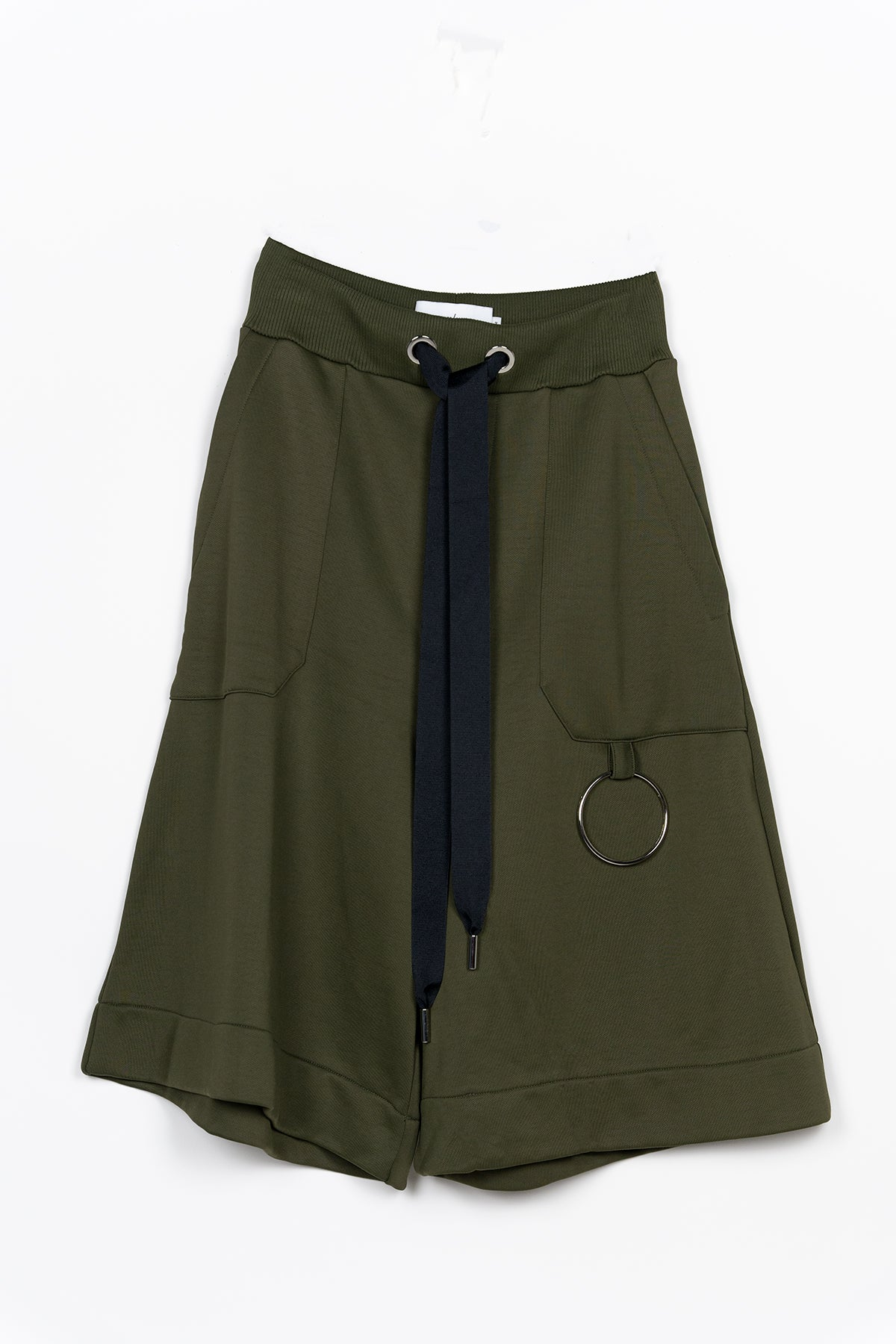 KHAKI TRACKSUIT FLEECE SHORTS