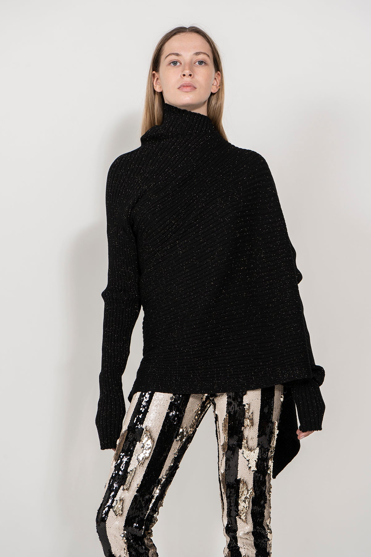 marques almeida LUREX DRAPED JUMPER