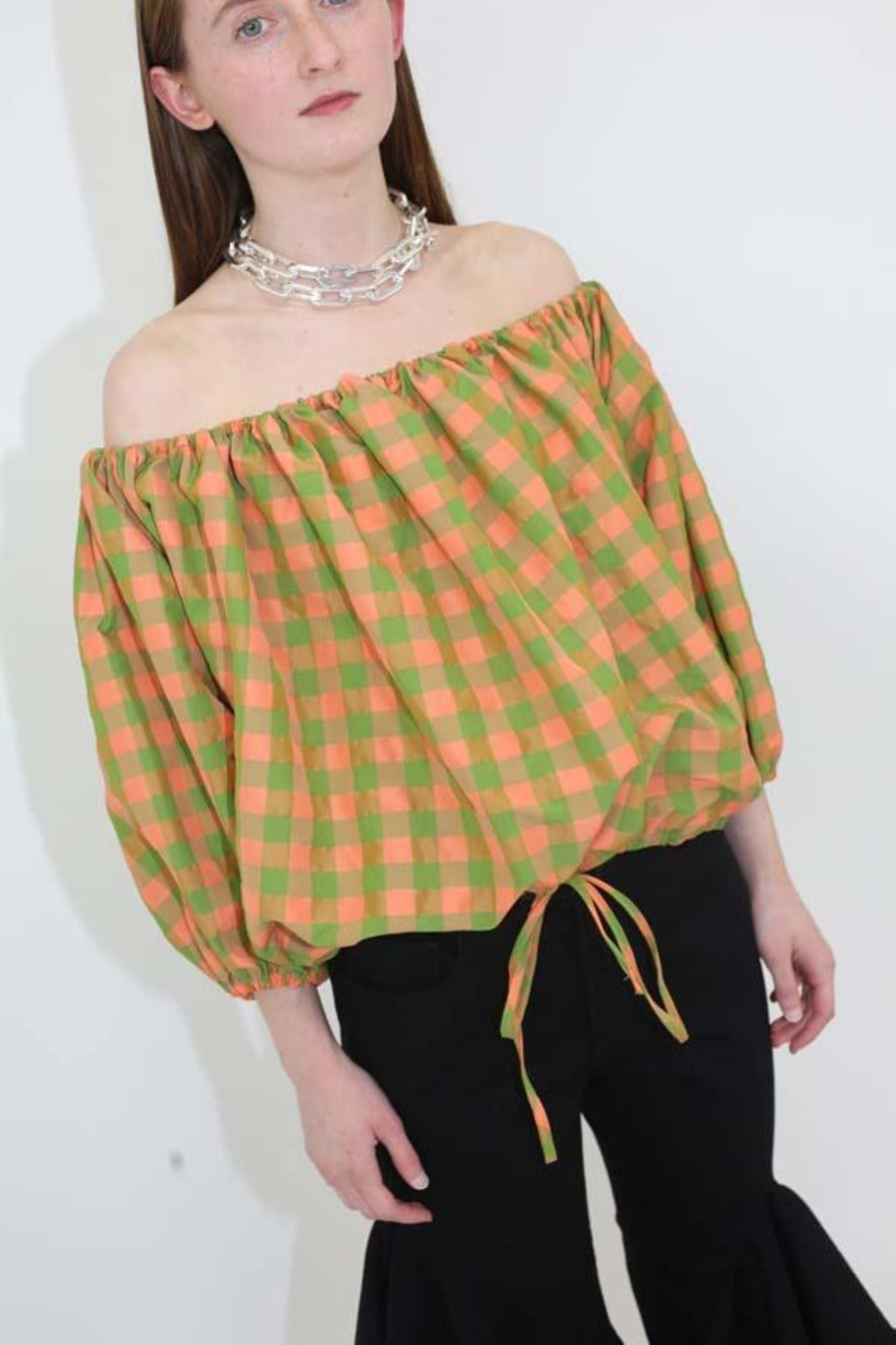 OFF SHOULDER PUFF TOP - marques-almeida-dev