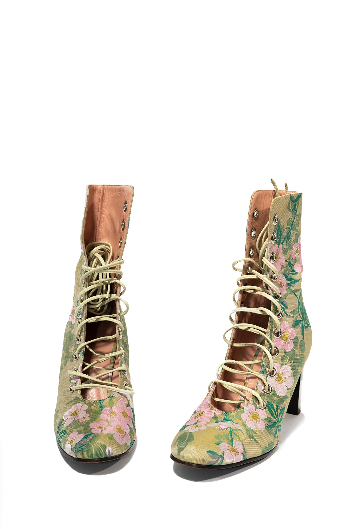 BROCADE LACE UP ANKLE BOOTS  marques almeida